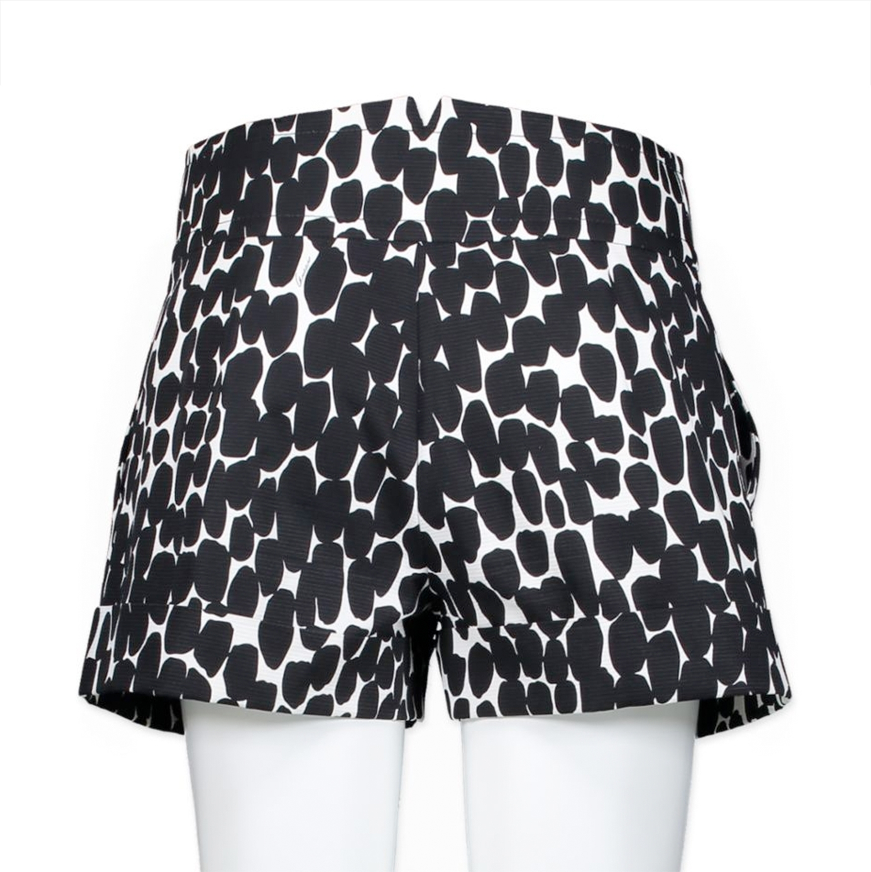 Gucci Black-White Print Short - Size 38