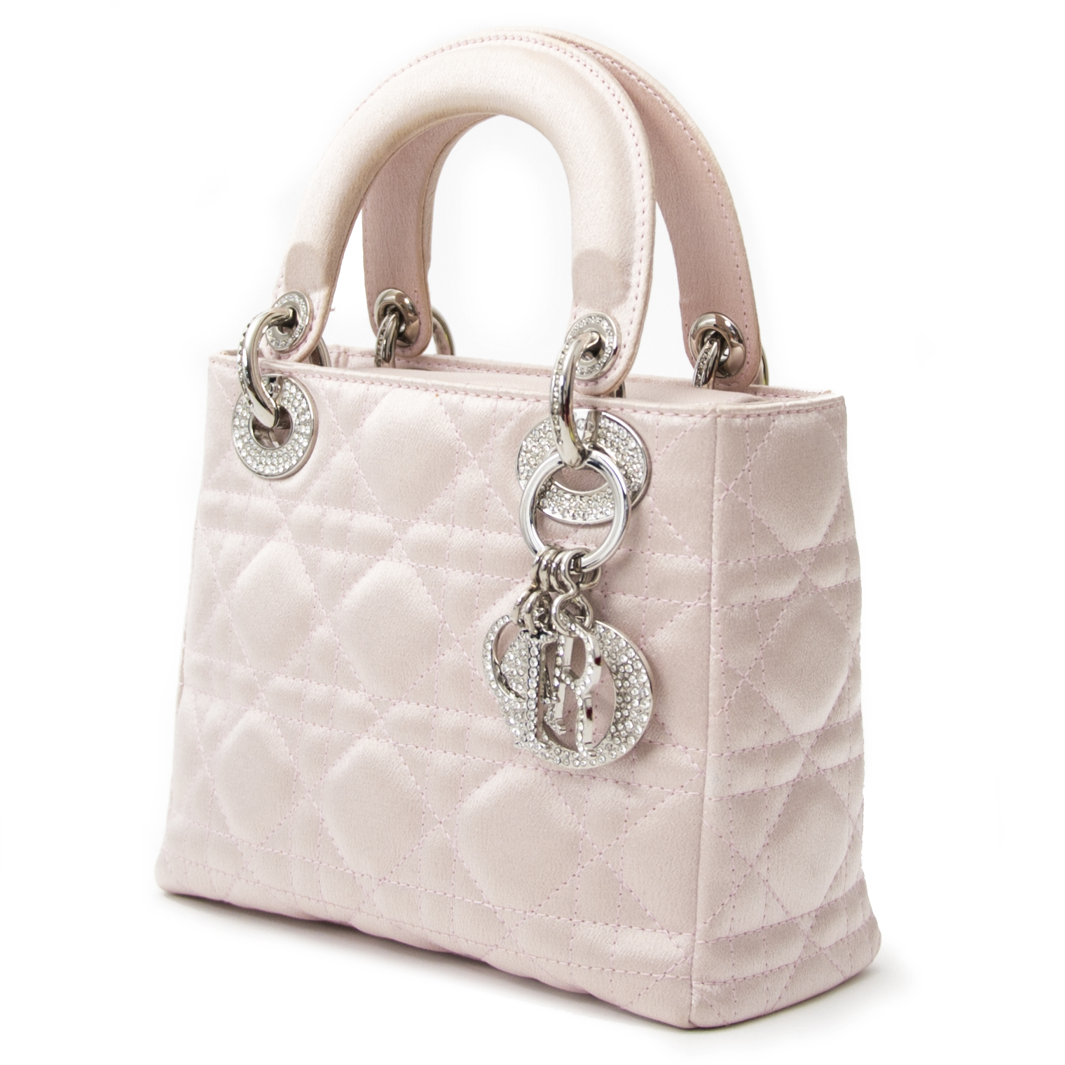 8db8dd2f162e ... sale online Do you want to buy an authentic Christian Dior Satin  Swarovski Crystal Cannage Mini Lady Dior