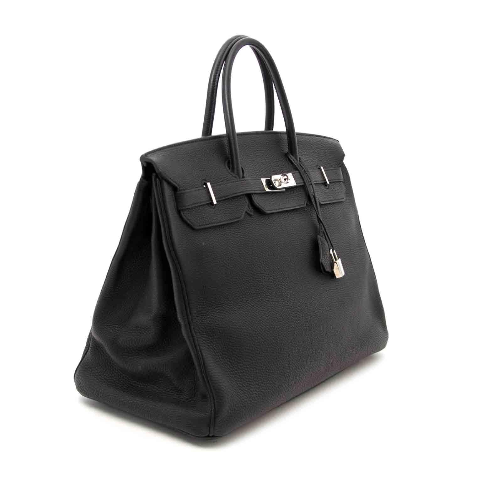 Acheter en ligne chez labellov.com hermes birkin 40 noir clemence taurillon togo phw