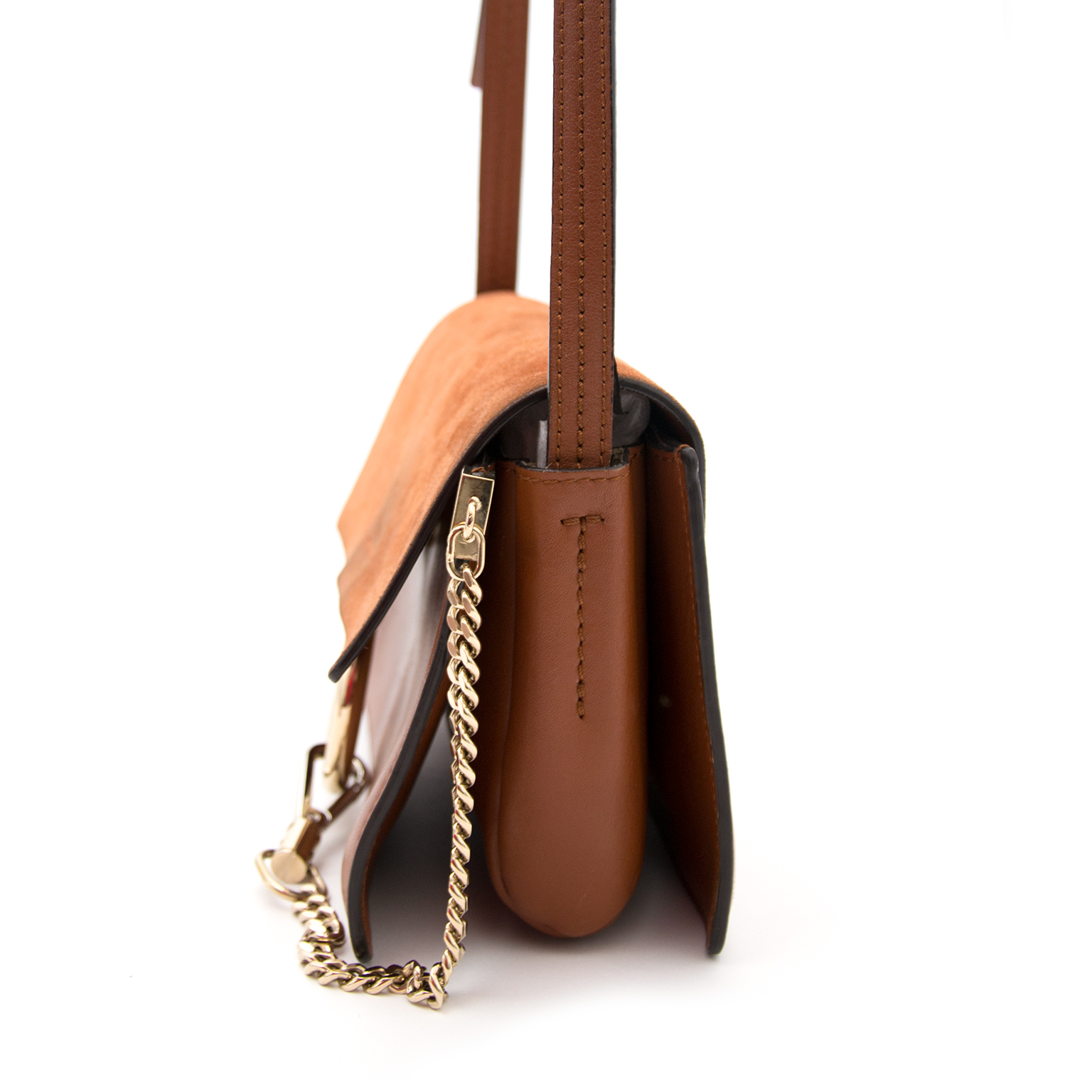 chloé small faye leather suede shoulder bag for the best price online at labellov.com