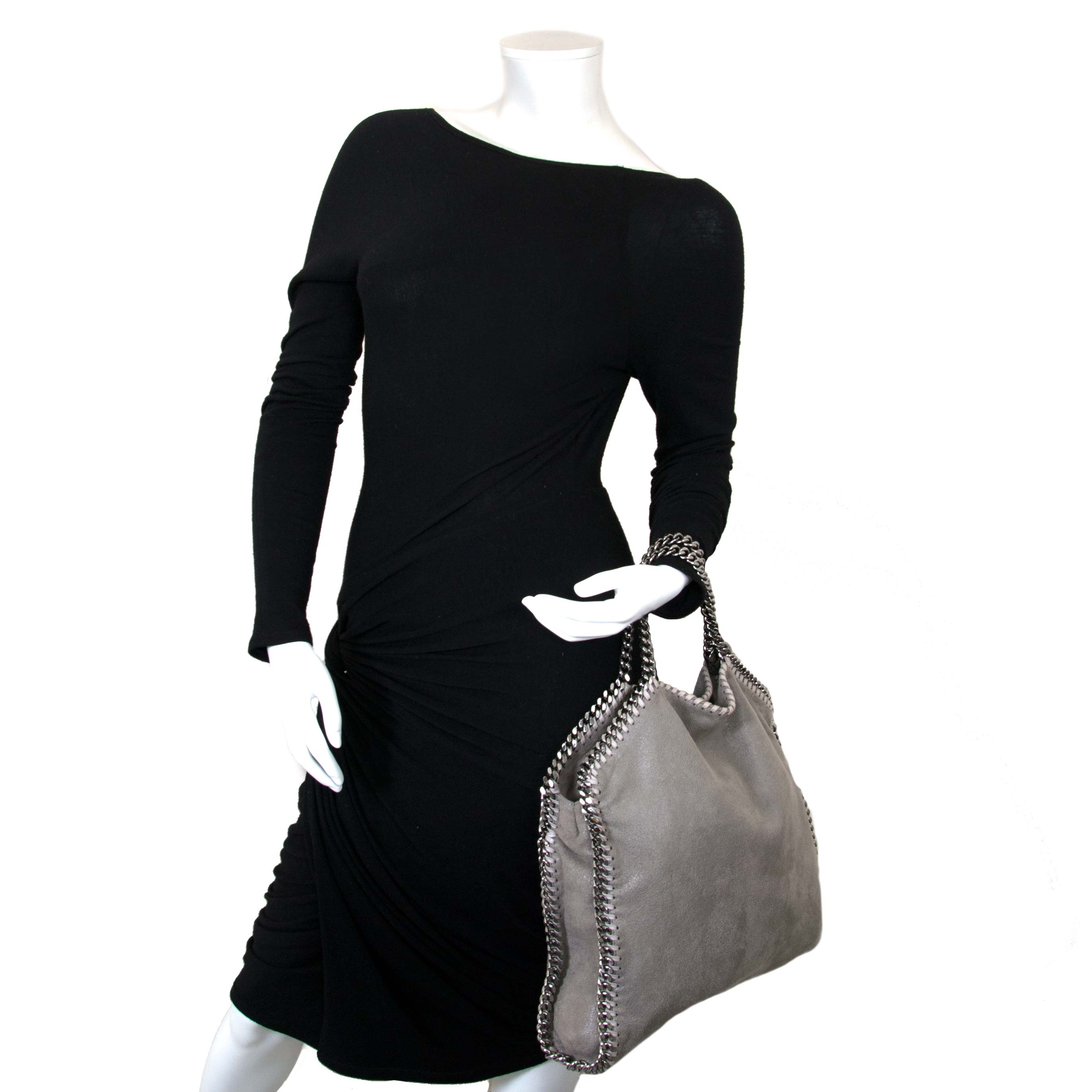 Stella McCartney Grey Falabella Fold Over Tote now for sale at labellov vintage fashion webshop belgium