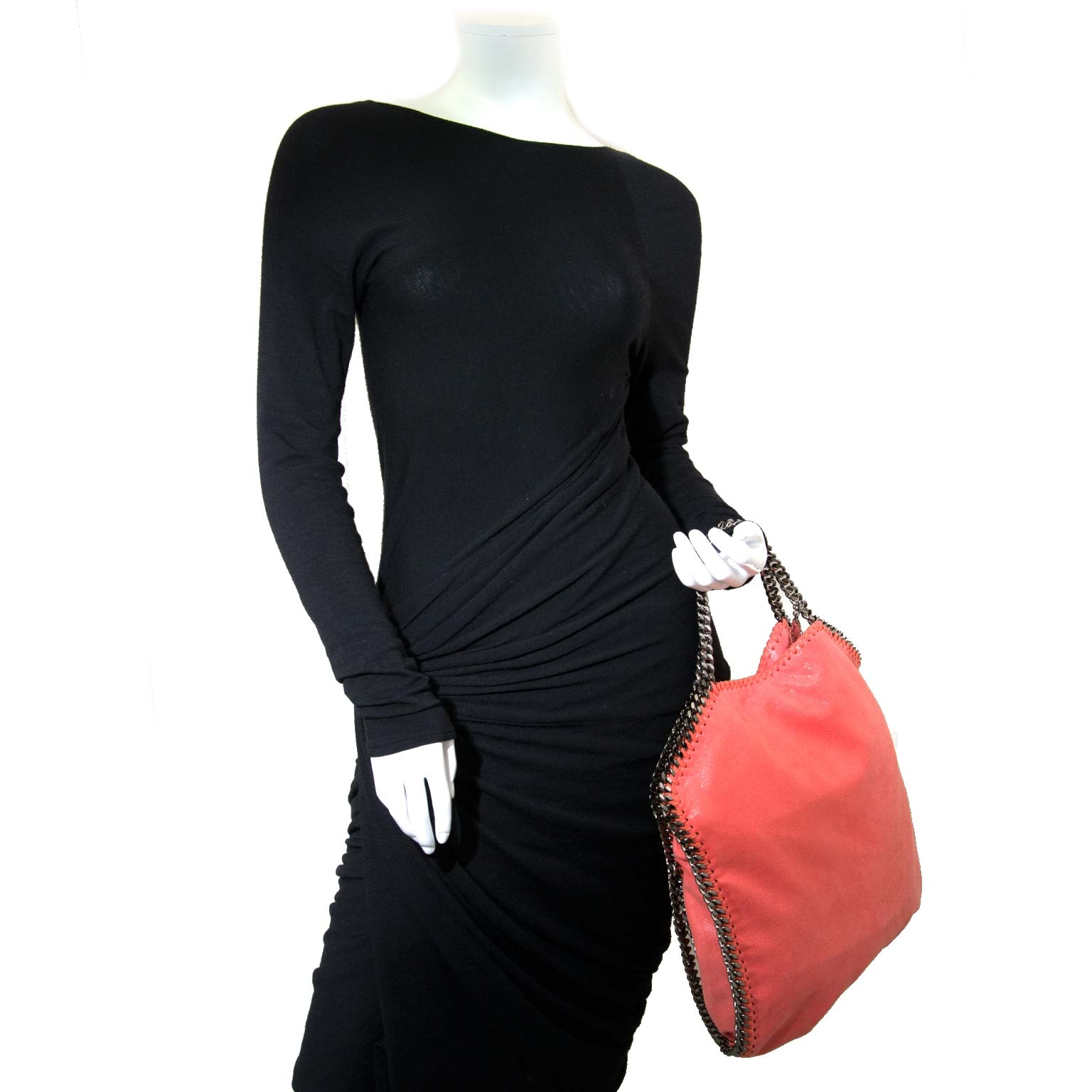 stella mccartney falabella salmon pink bag now for sale at labellov vintage fashion webshop belgium