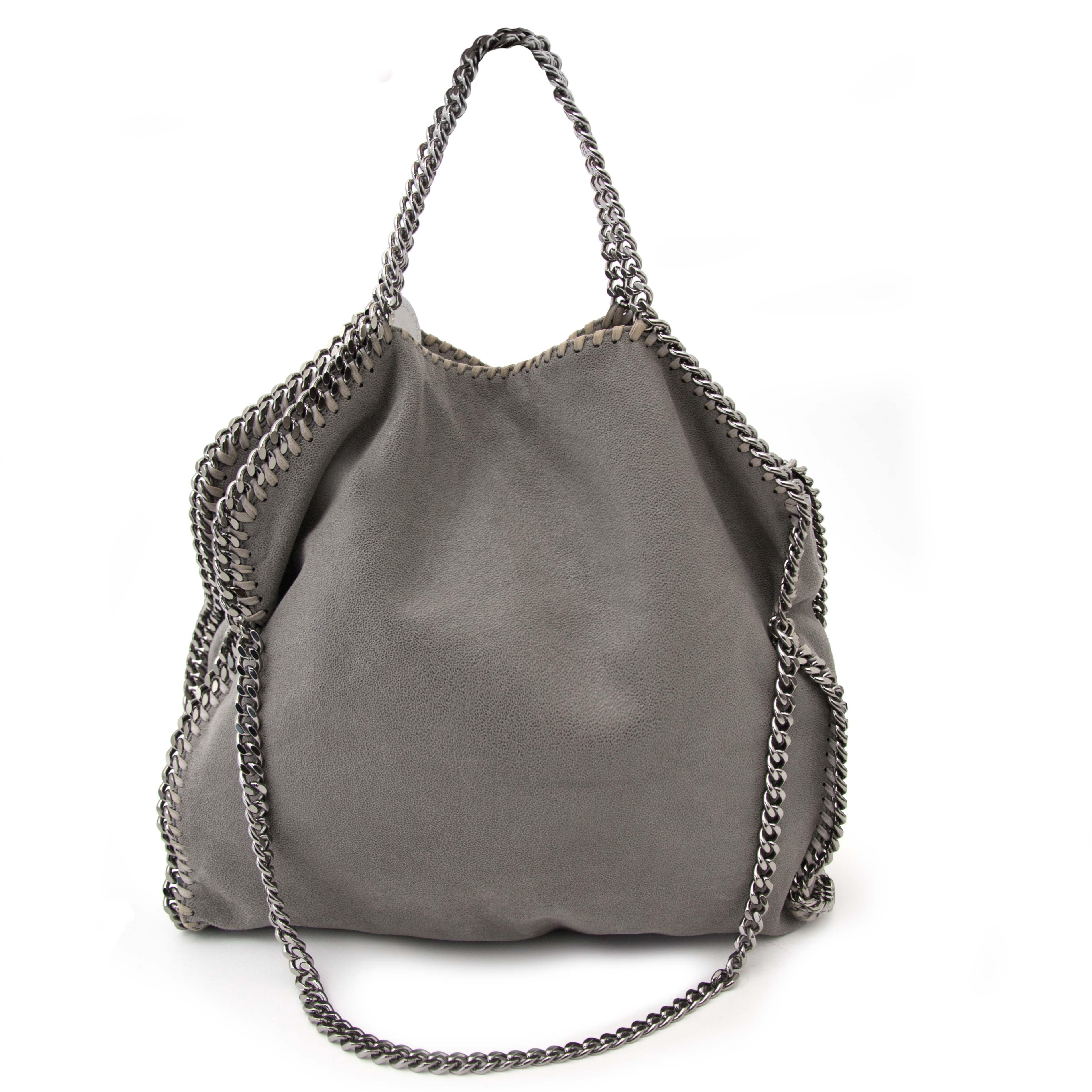 Acheter secur en ligne votre sac a mains Stella McCartney Grey Falabella Fold-Over Bag pour le meilleur prix
