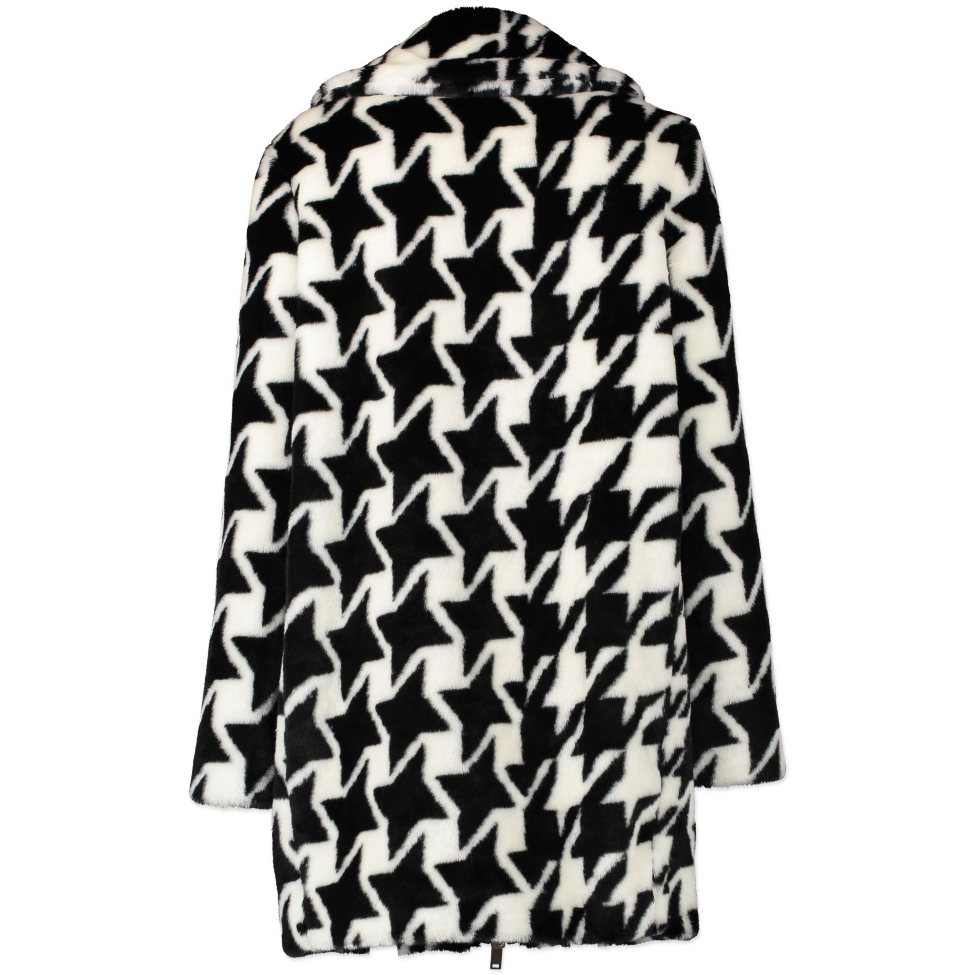 Authentic secondhand Stella McCartney Houndstooth Faux-Fur Coat designer clothing coats designer brands luxury vintage webshop fashion safe secure online shopping worldwide shipping