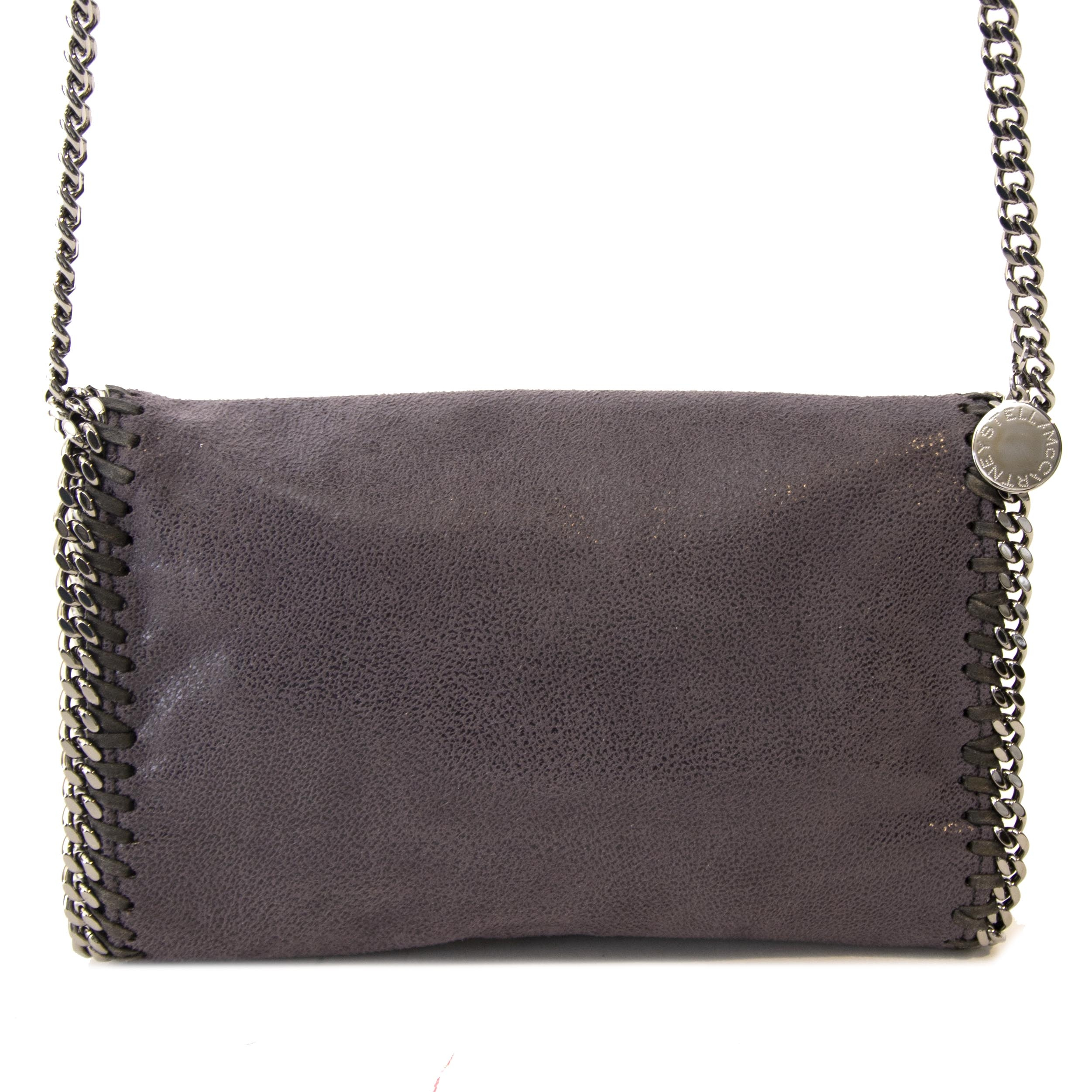 Authentieke tweedehands vintage nieuwe Stella McCartney Grey Falabella Cross Body Bag koop online webshop LabelLOV