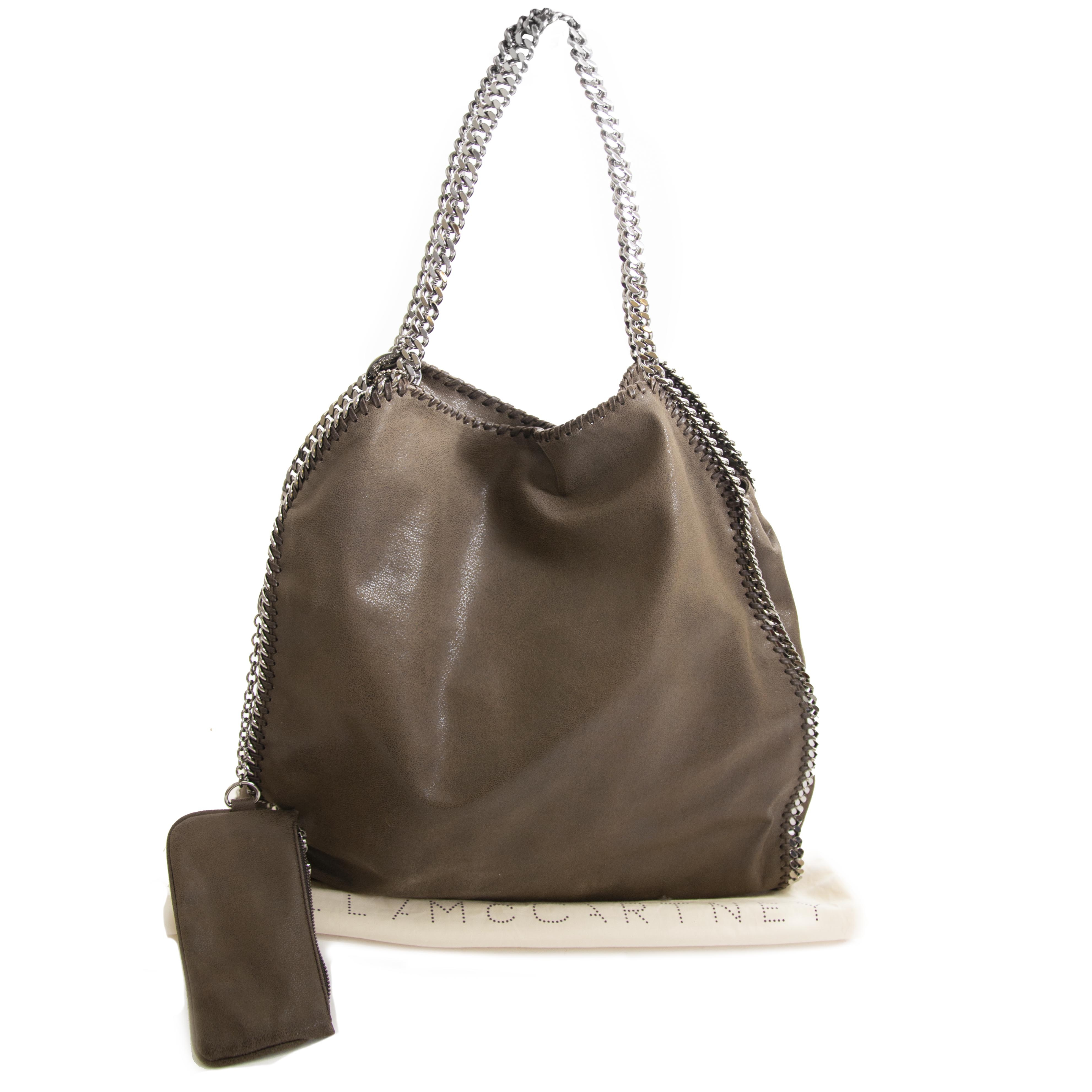Stella McCartney Brown Greyish Falabella Big Tote