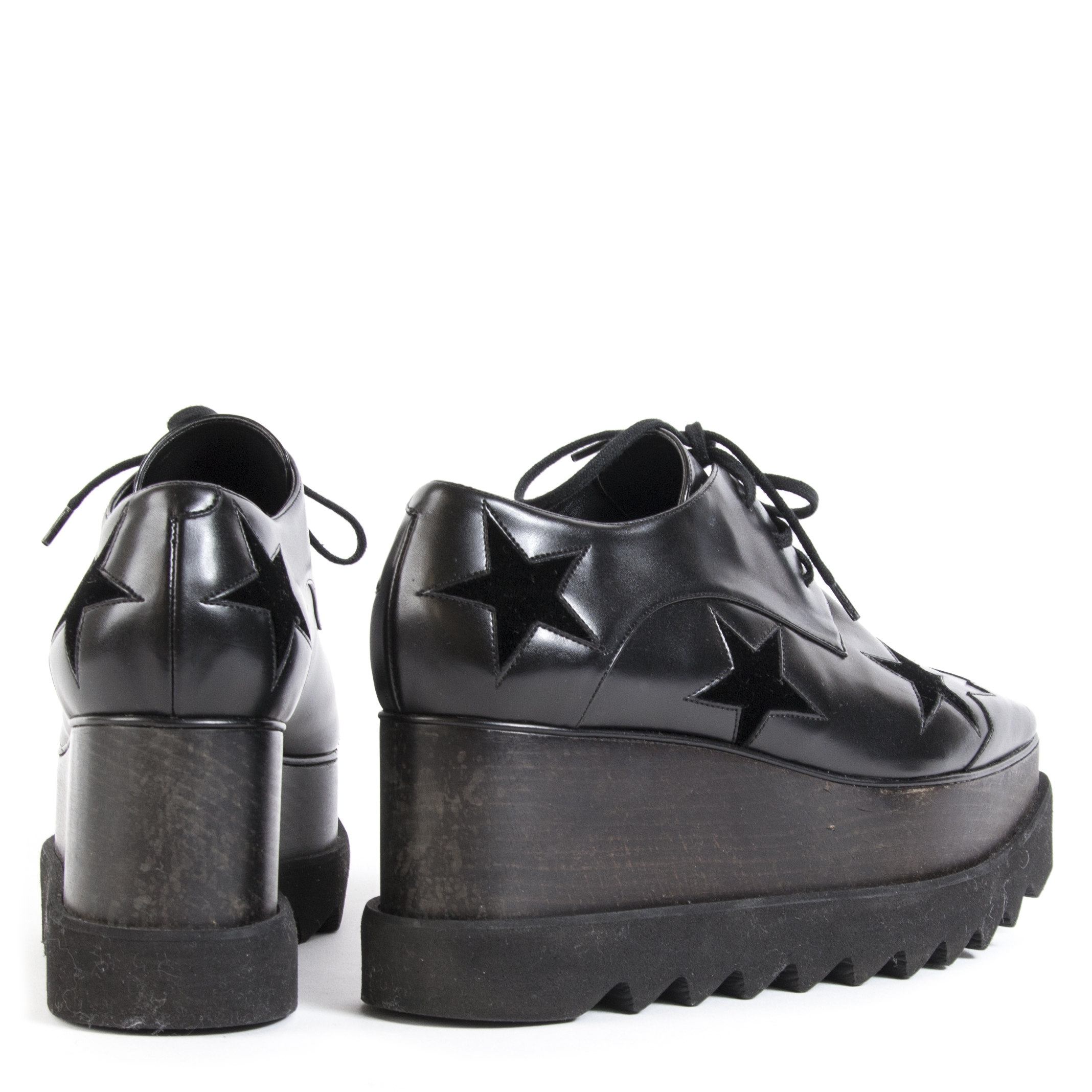 Stella Mc Cartney Elyse Black Wedges-