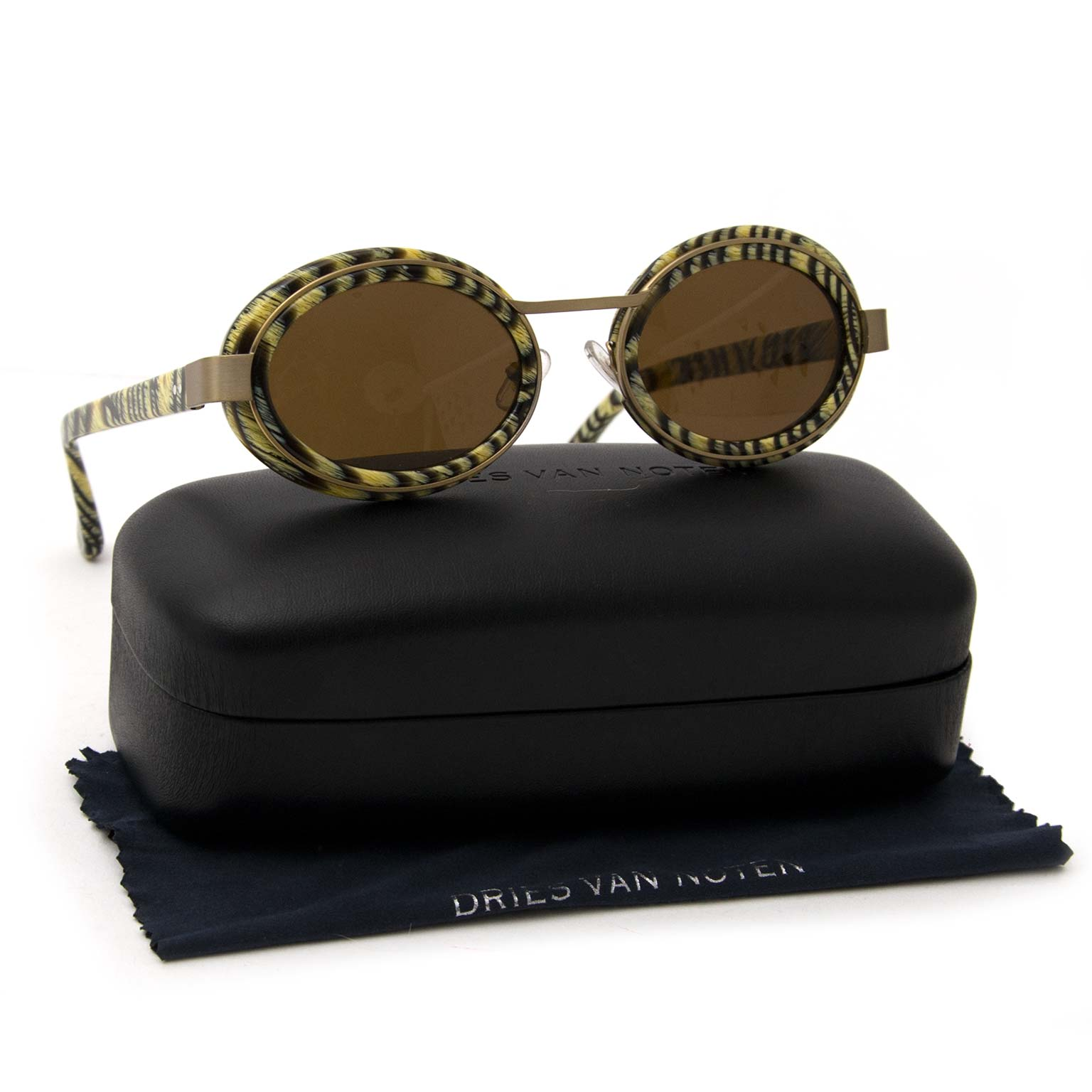 dries van noten and linda farrow oval sunglasses now online at labellov.com for the best price