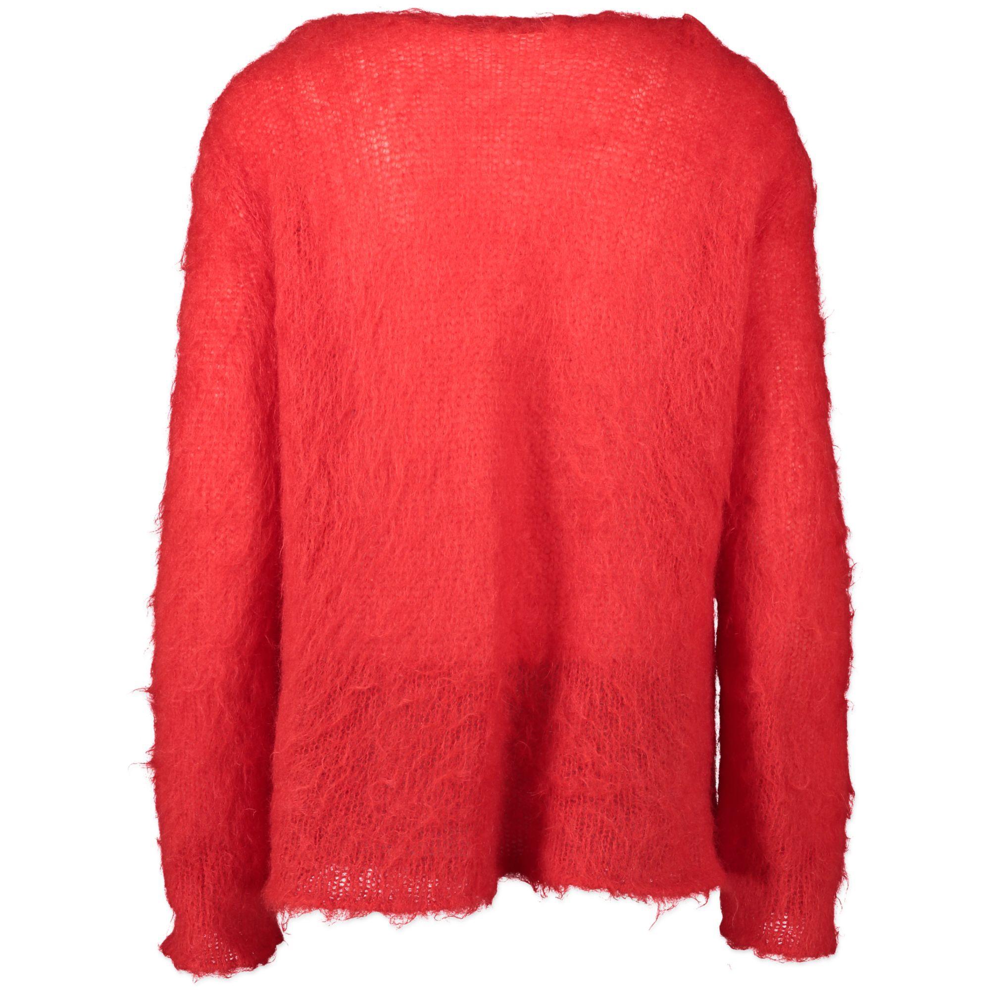 Saint Laurent Red Mohair Sweater - size L