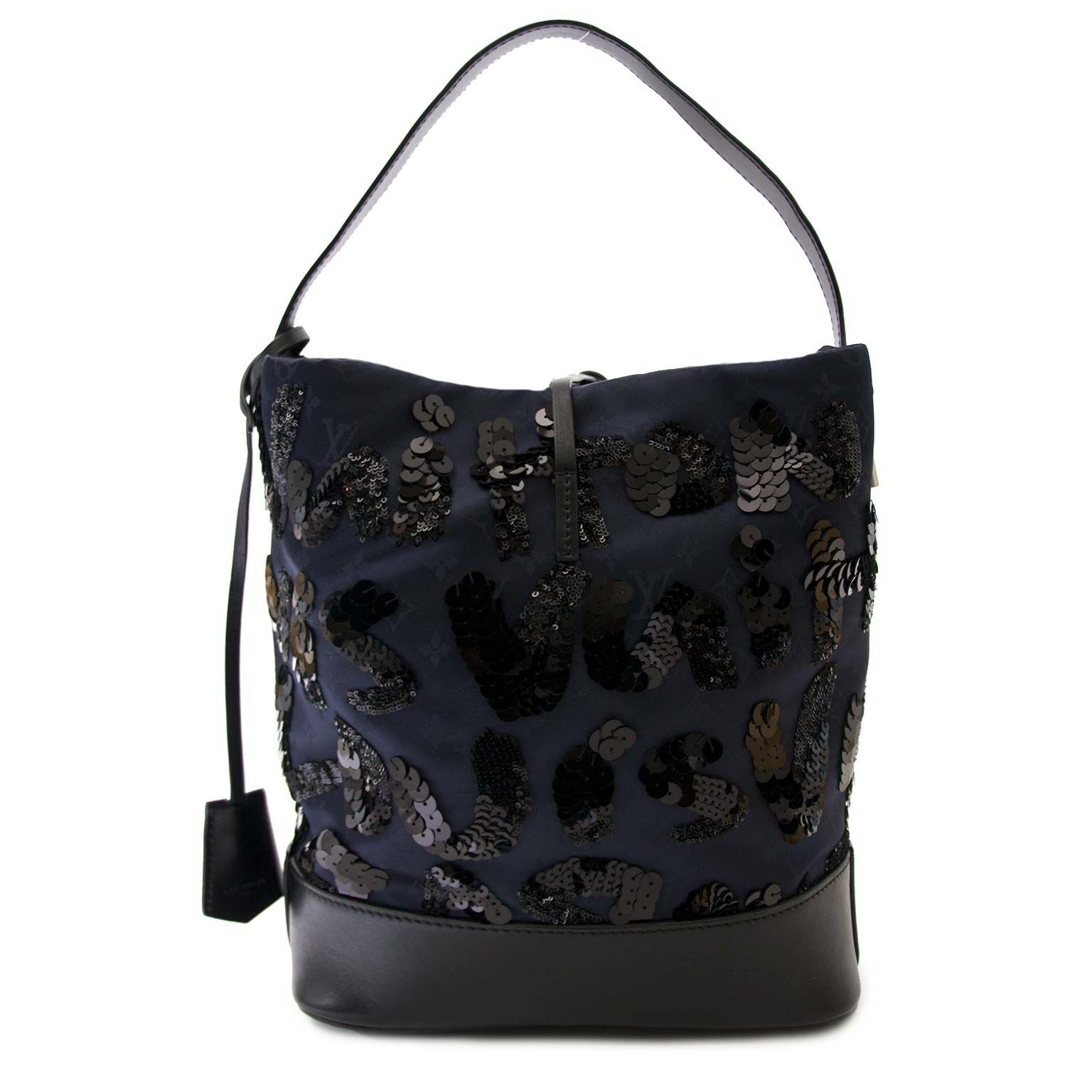 buy secondhand Louis Vuitton Spotlight Monogram Graffiti Dark Blue GM Sequin By Stephen Sprouse at labellov