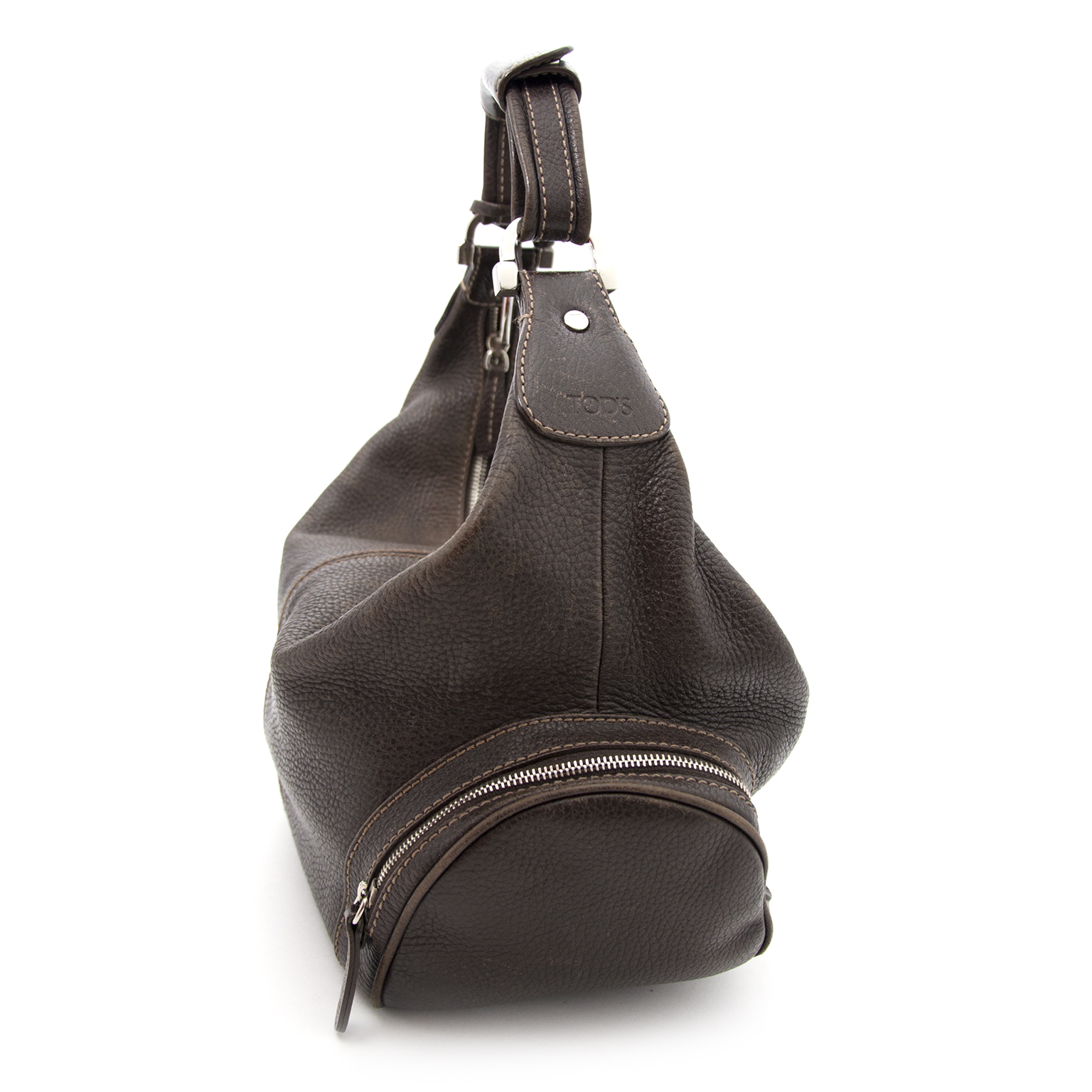 Koop een tweedehands Tod's Chocolate Shoulder Bag online