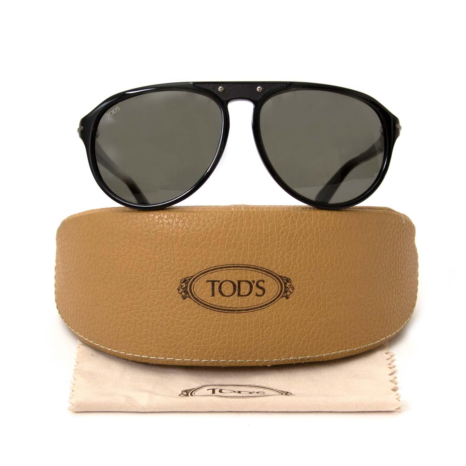 koop tod's zonnebrillen bij labellov vintage mode webshop antwerpen belgië