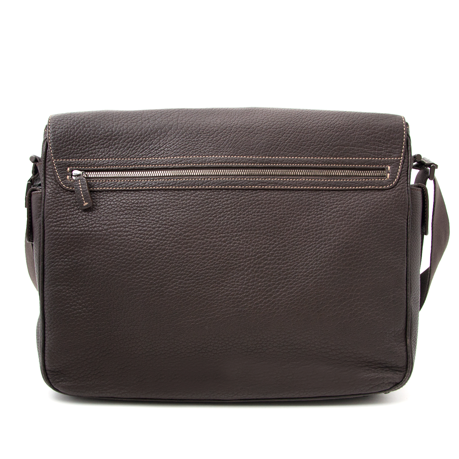 Are you looking for an authentic Tod's Brown Leather Messenger Bag? Shop safe at Labellov.