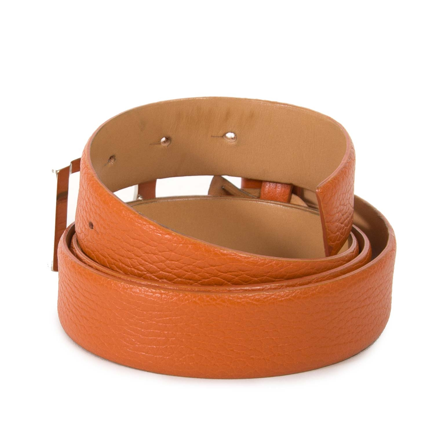 buy Tods Orange Leather Belt - Size 90 at labellov for the best price