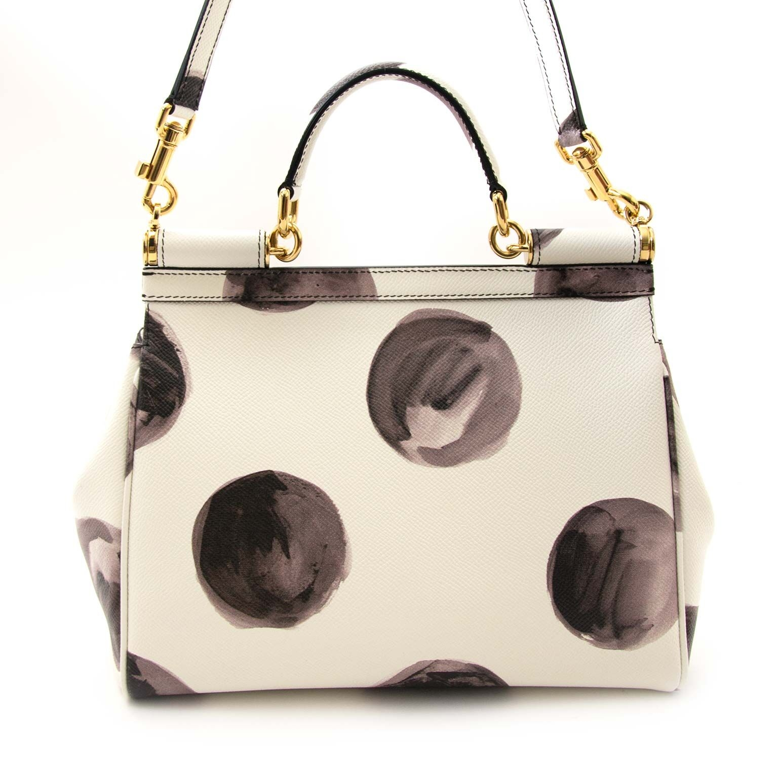authentique Dolce & Gabbana White Leather Miss Sicily Medium Shoulder bag en vendre sur labellov