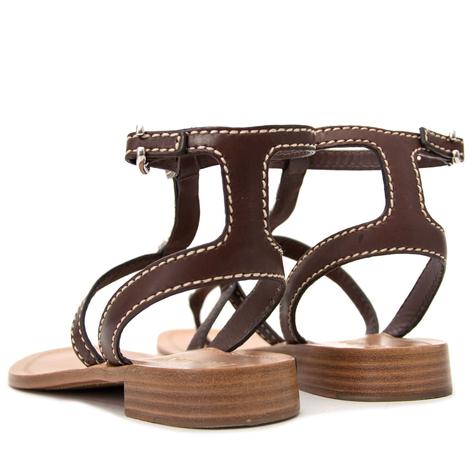 buy secondhand Prada Brown Toe Strap Sandals at labellov and pay save