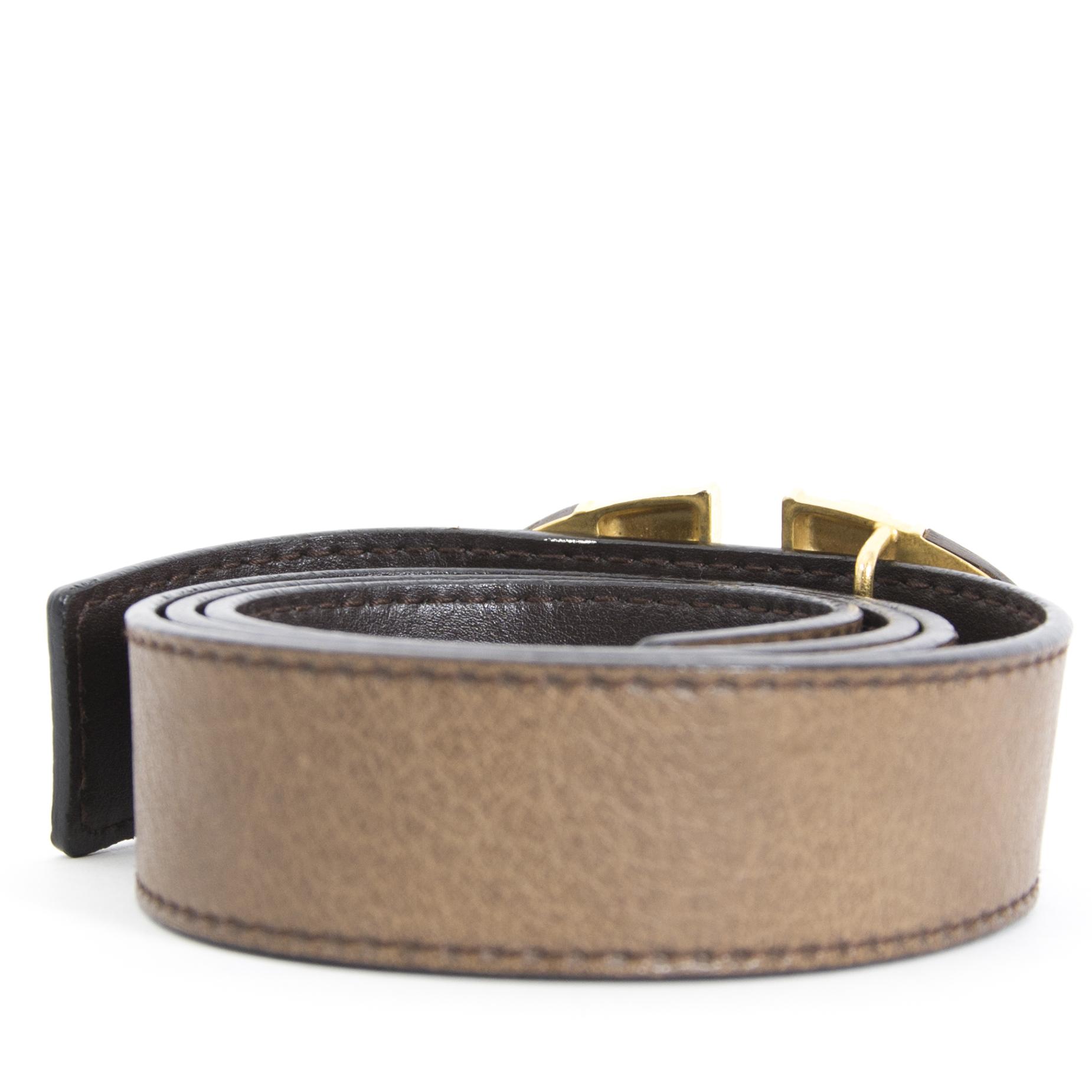 Achetez maintenant en ligne Valentino Brown Leather Belt - size 85 chez labellov.com