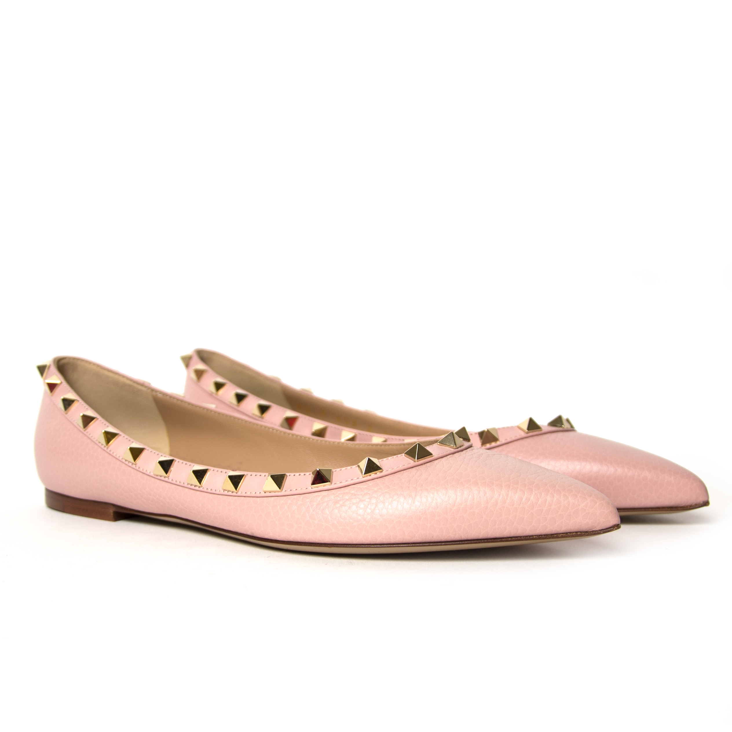 f0227af3a ... buy Valentino Baby Pink Rockstuds Flats - Size 38 at labellov and pay  save online