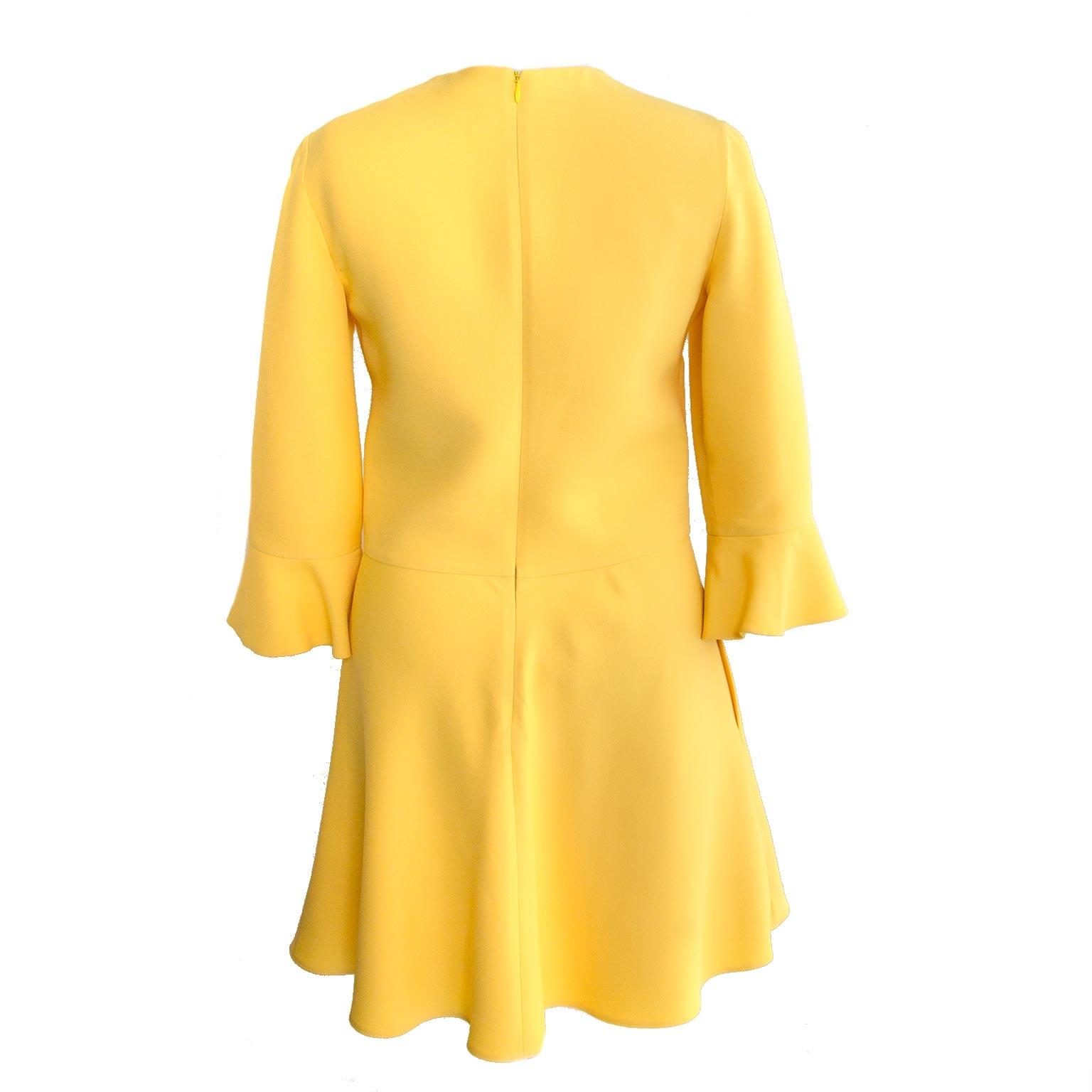 buy authentic valentino yellow dress at labellov vintage fashion webshop belgium
