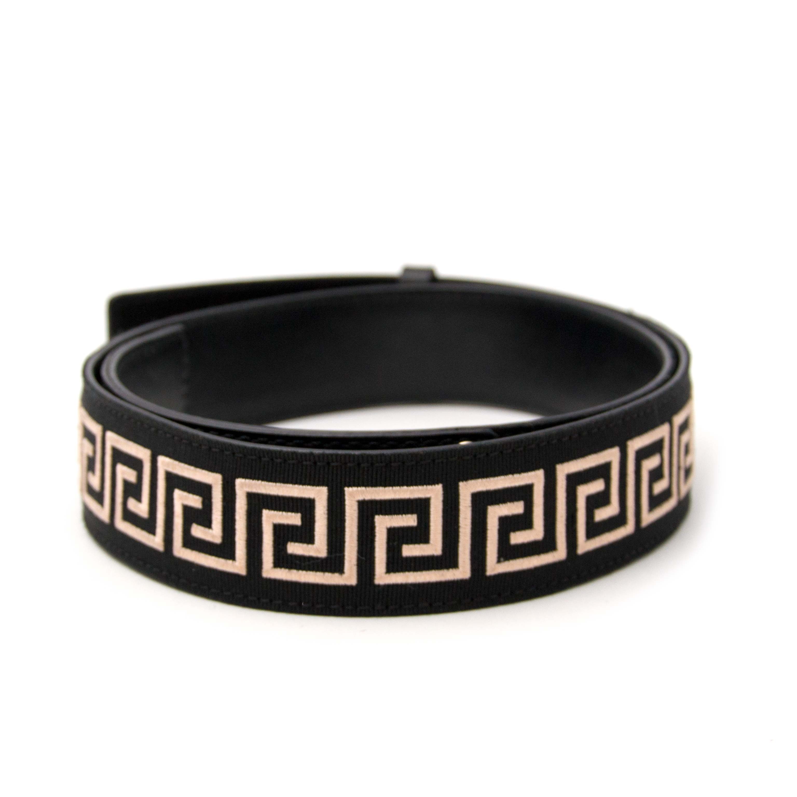 Versace Black Leather and Nylon Belt for sale online