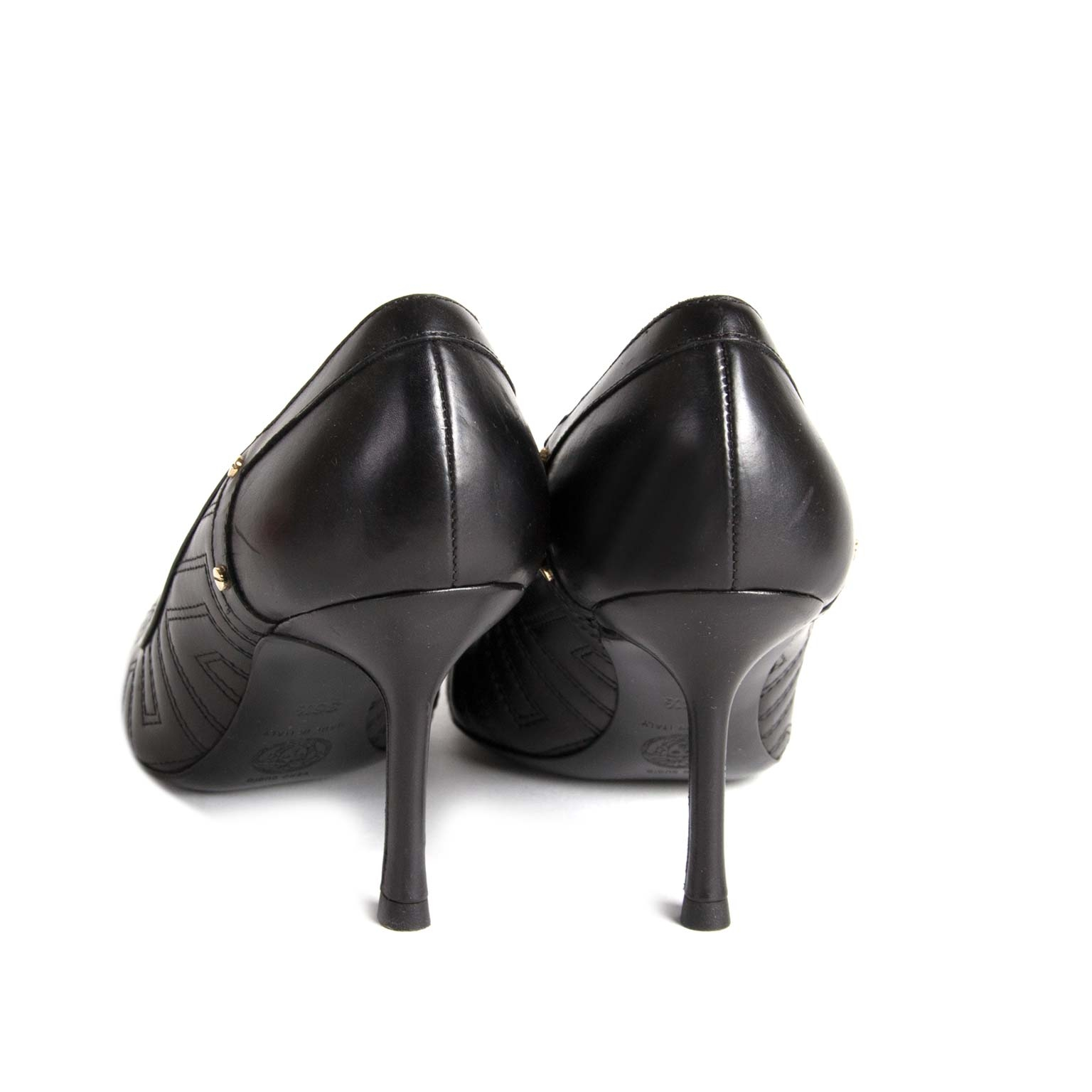 buy  Versace Black Quilted Heels - Size 36,5 at labellov for the best price