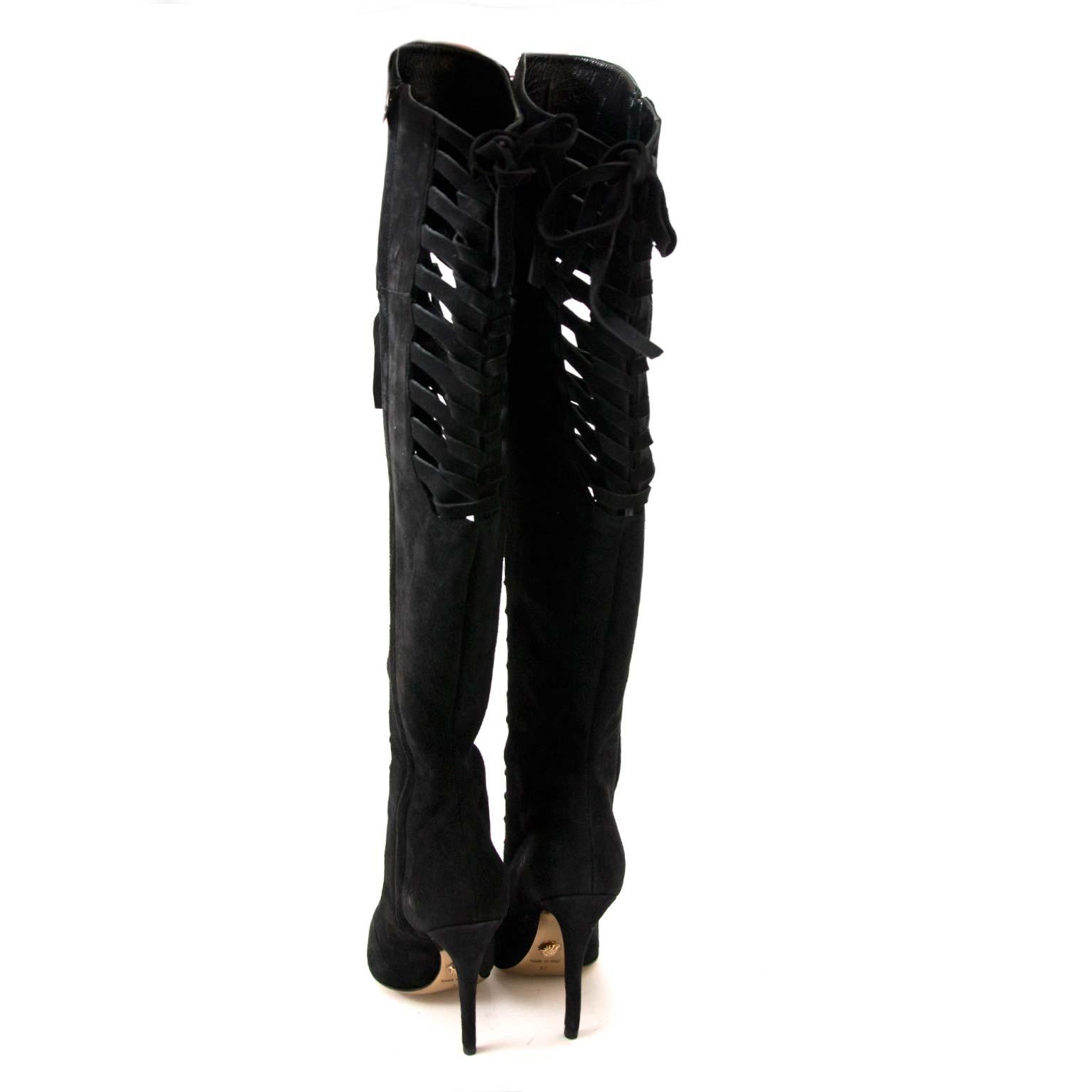 Koop Versace botten online bij labellov vintage fashion webshop