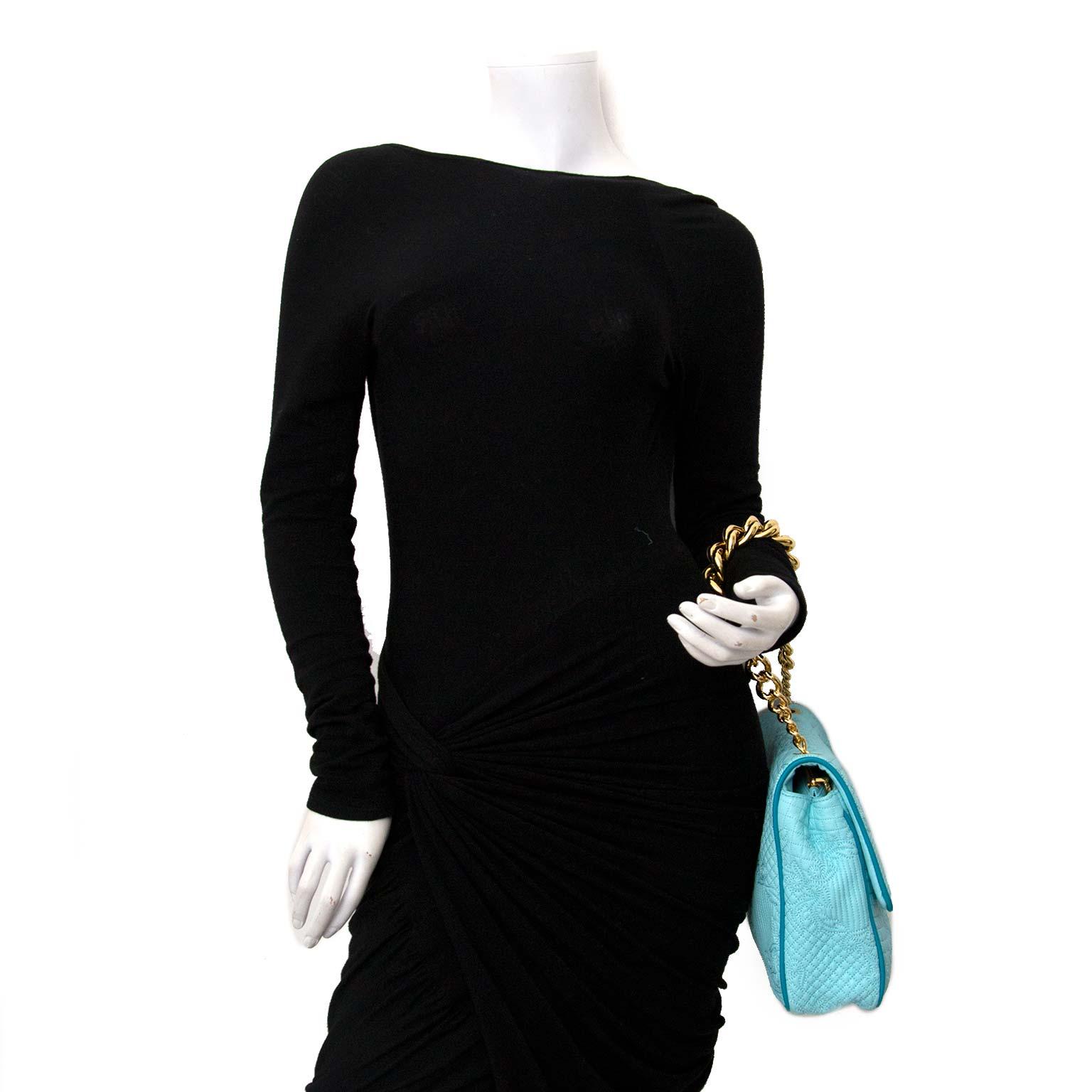acheter en ligne pour le meilleur prix Versace Turquoise Quilted Leather