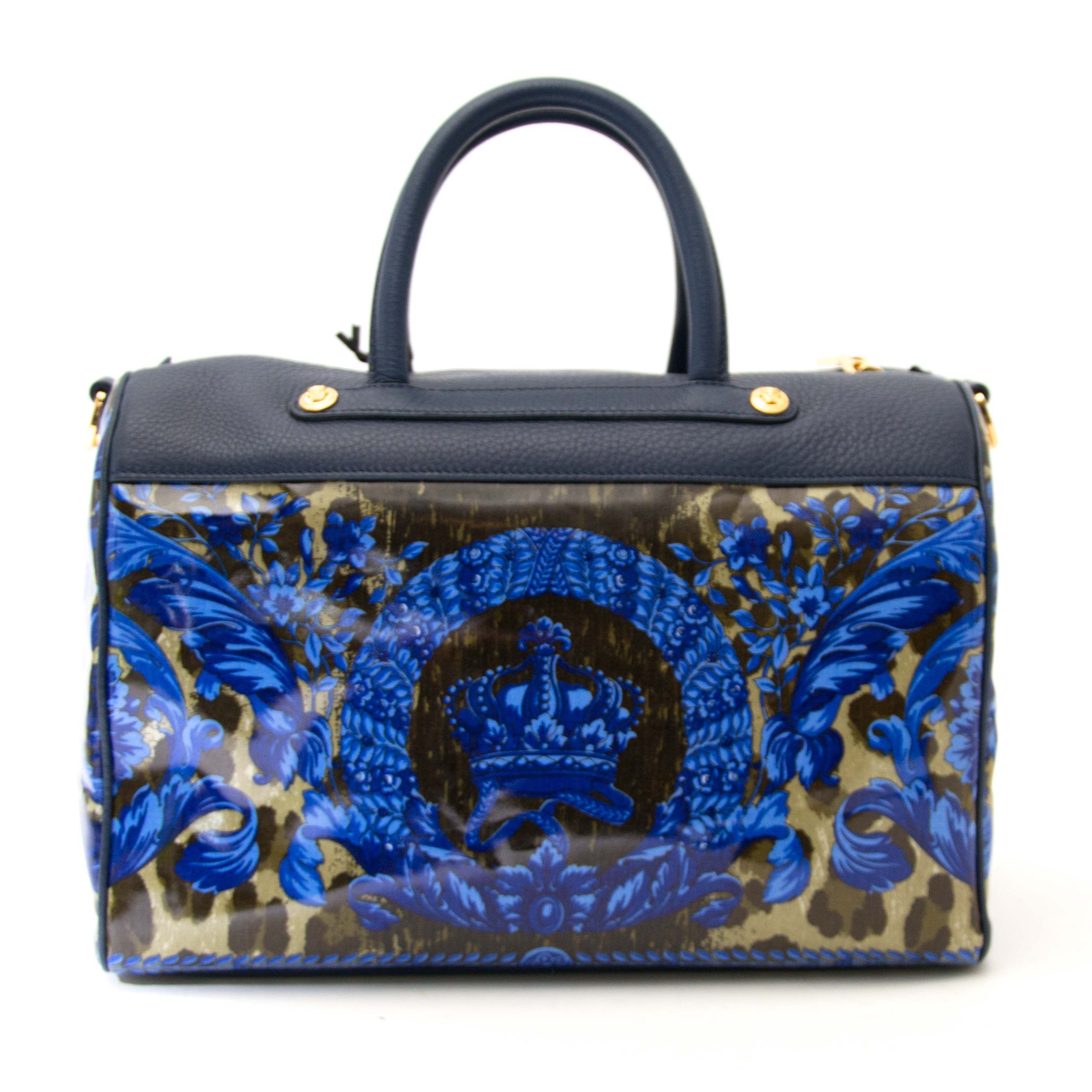 Are you looking for an authentic Never Used Versace Floral Boston Bag?