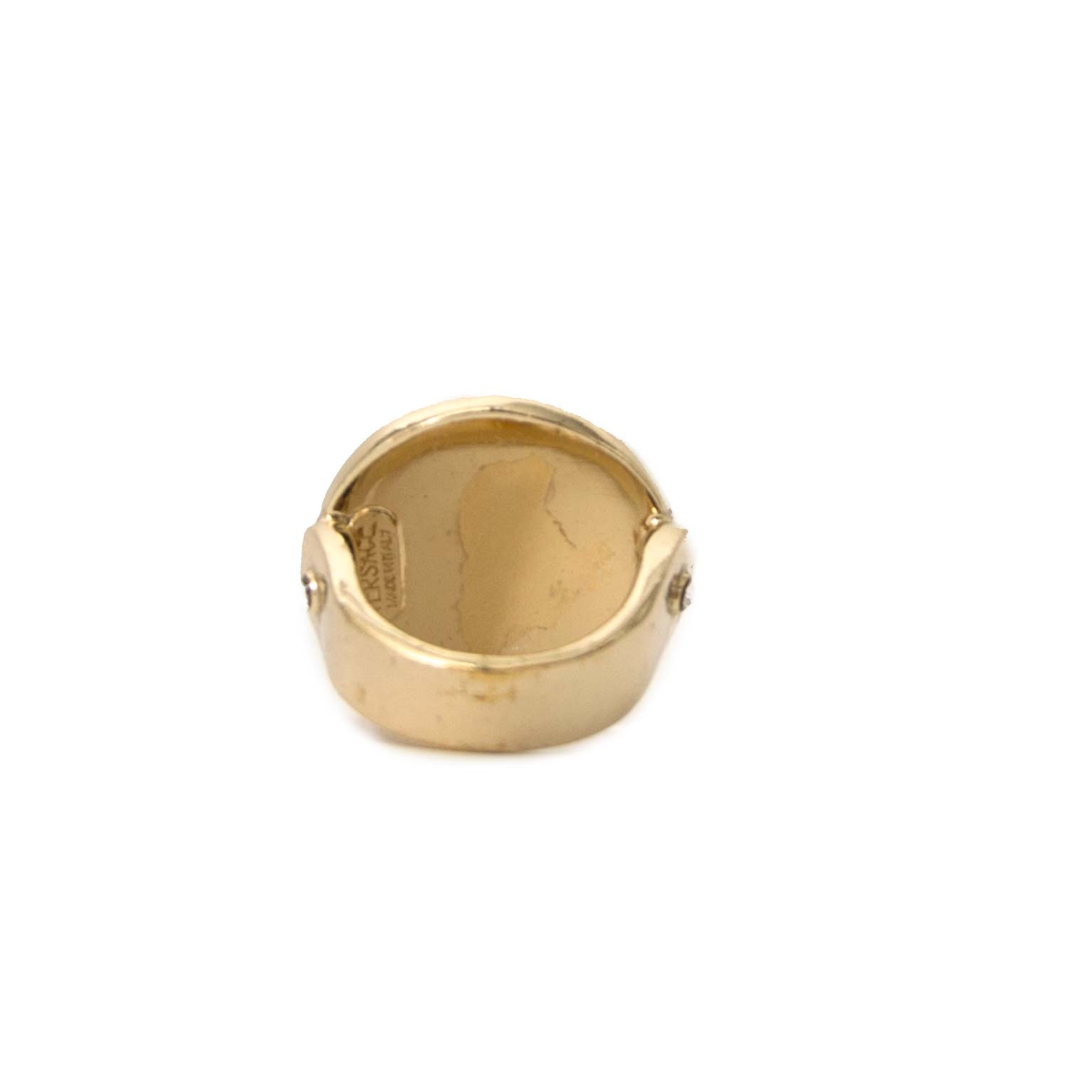 Buy authentic versace gold medusa rings now online at  labellov vintage fashion webshop belgium