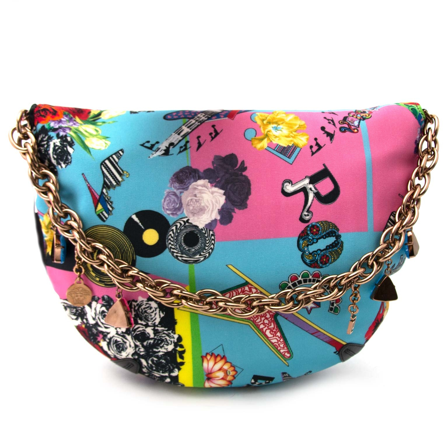 Versace Multicolor Marlene Printed Shoulder Bag for sale online