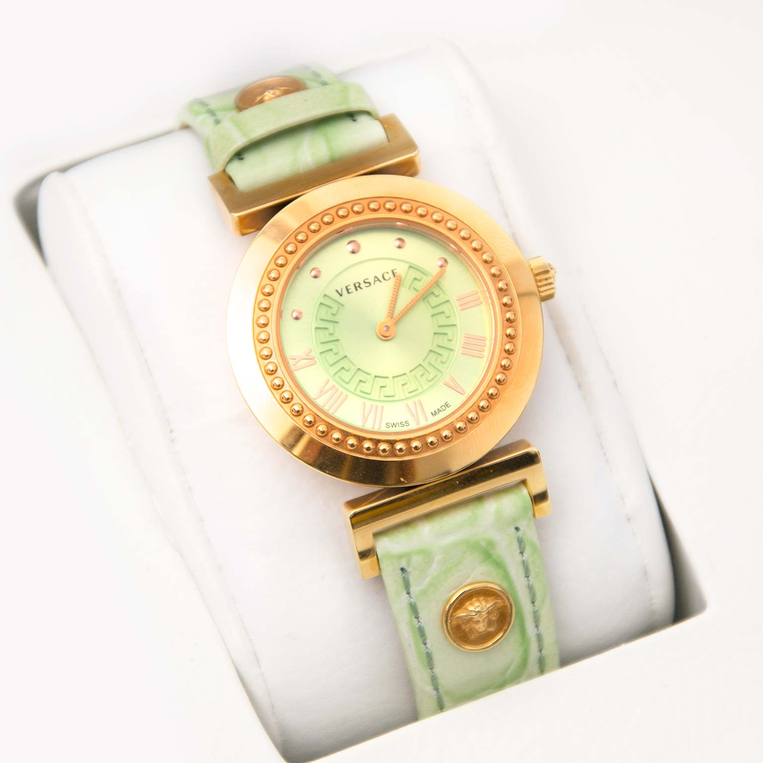 shop safe online Versace Cleopatra Mother Of Pearl Dial Watch