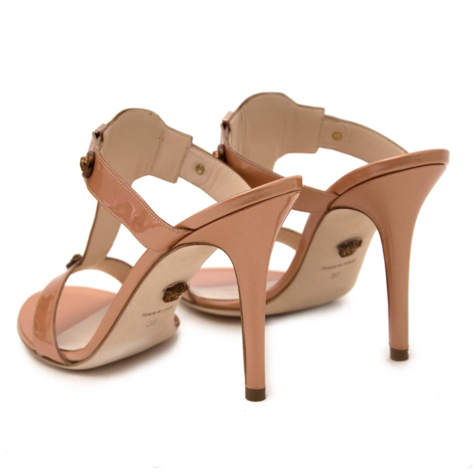 *NEVER WORN* Versace Rose Gold Patent Leather Mules - Size 38 koop vielig online tegen de beste prijs