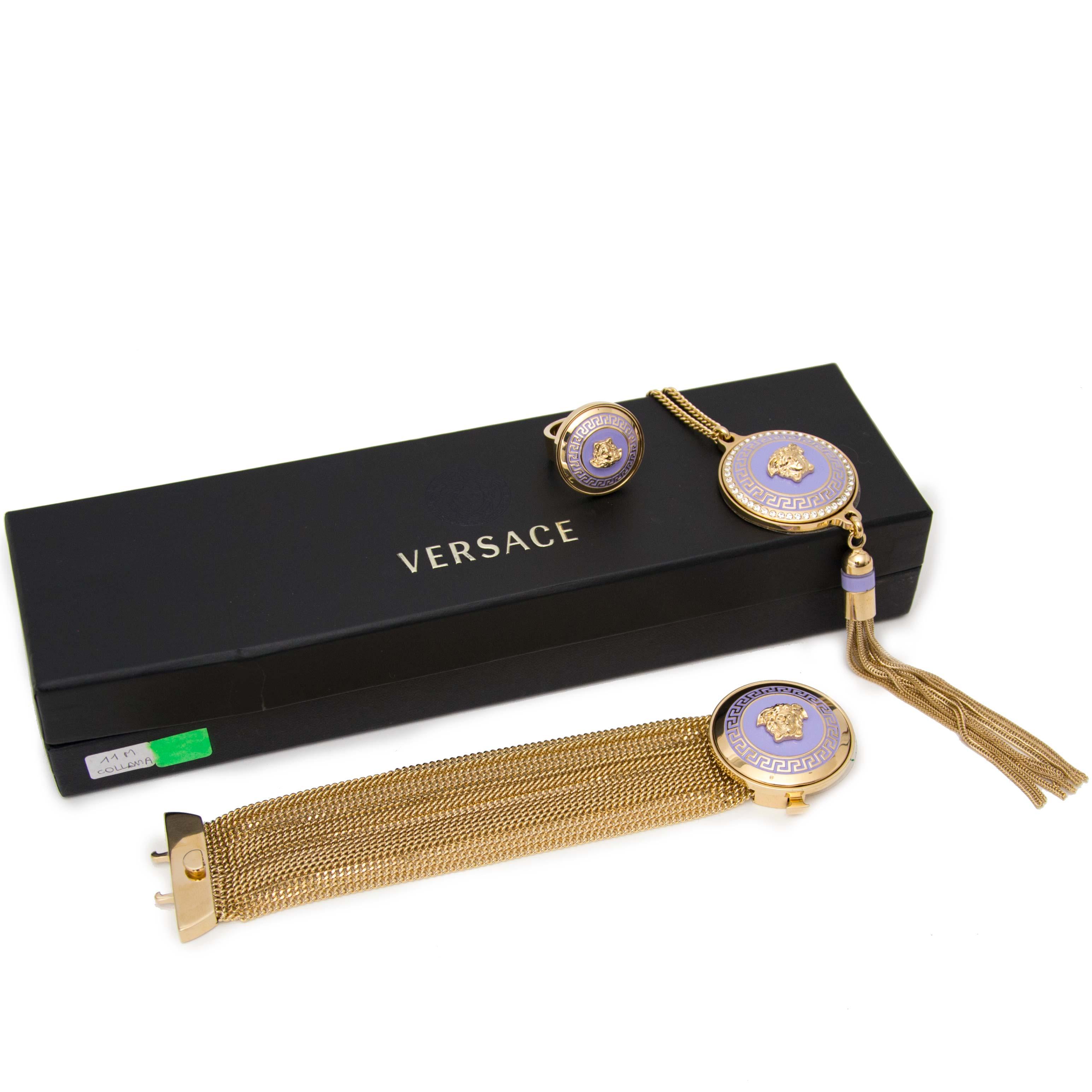 shop safe online secondhand Versace Necklace, Bracelet & Ring Medusa Head Set