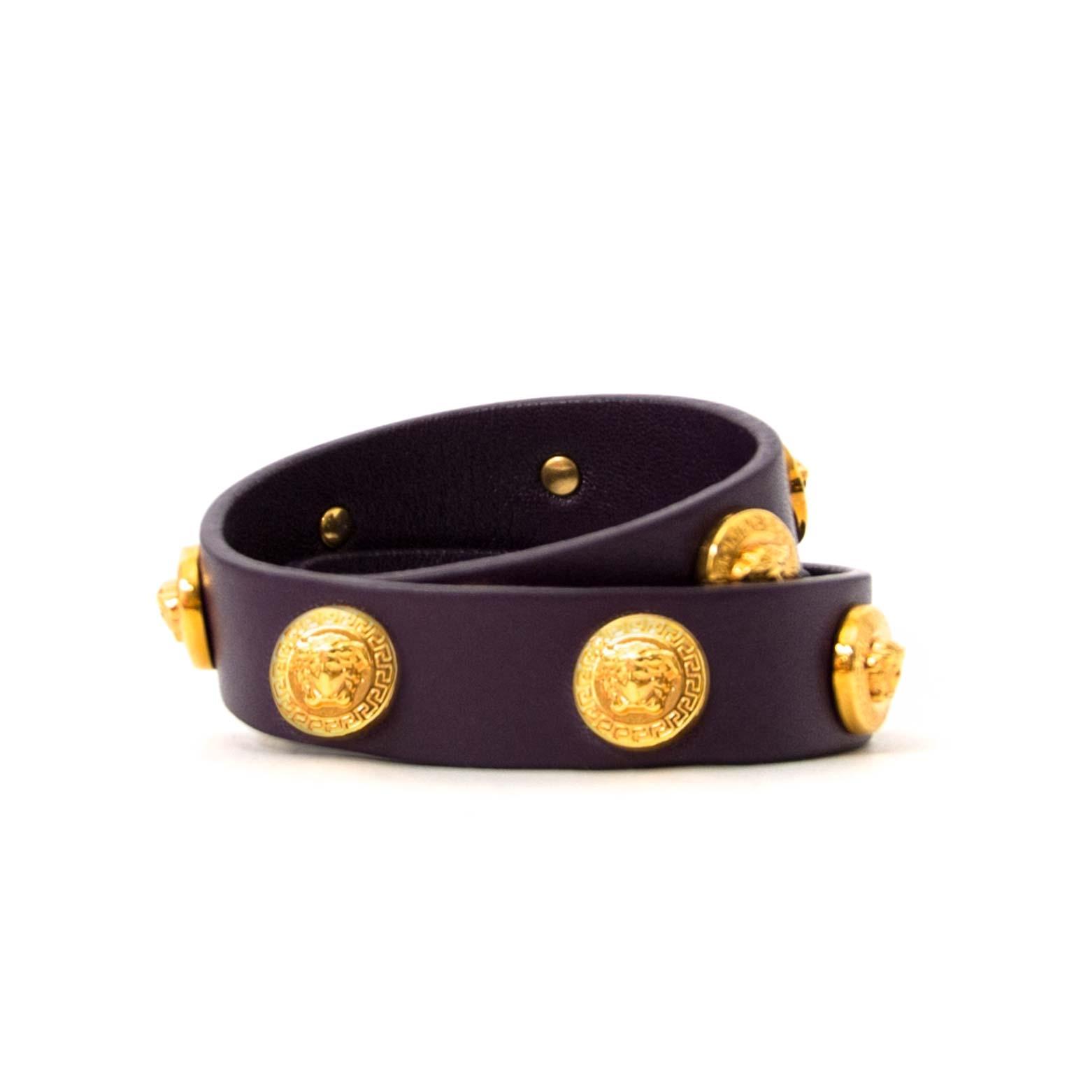 koop authentieke versace wrap armband bij labellov vintage mode webshop belgië