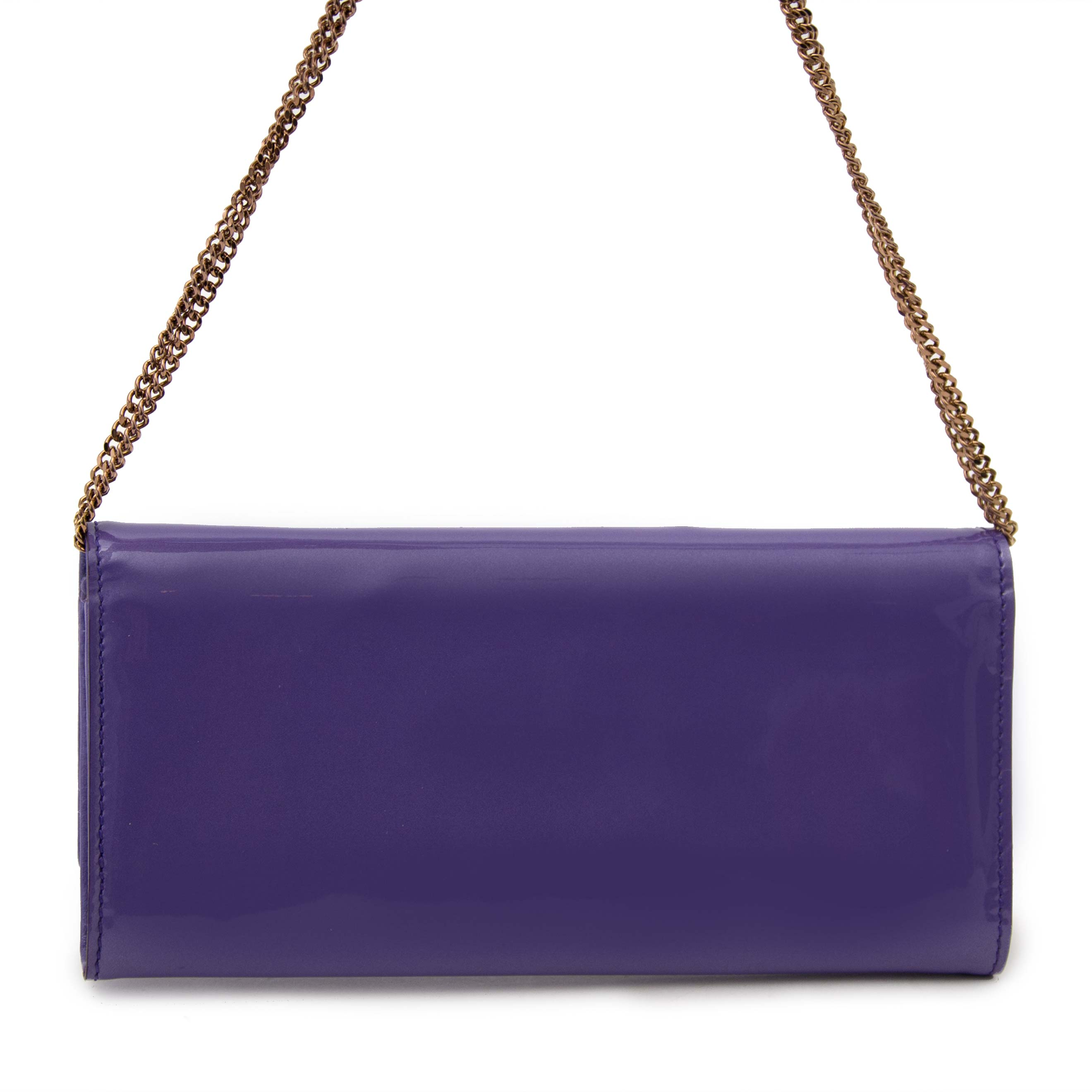 Secondhand Versace Purple Wallet on Chain Medusa online available at Labellov