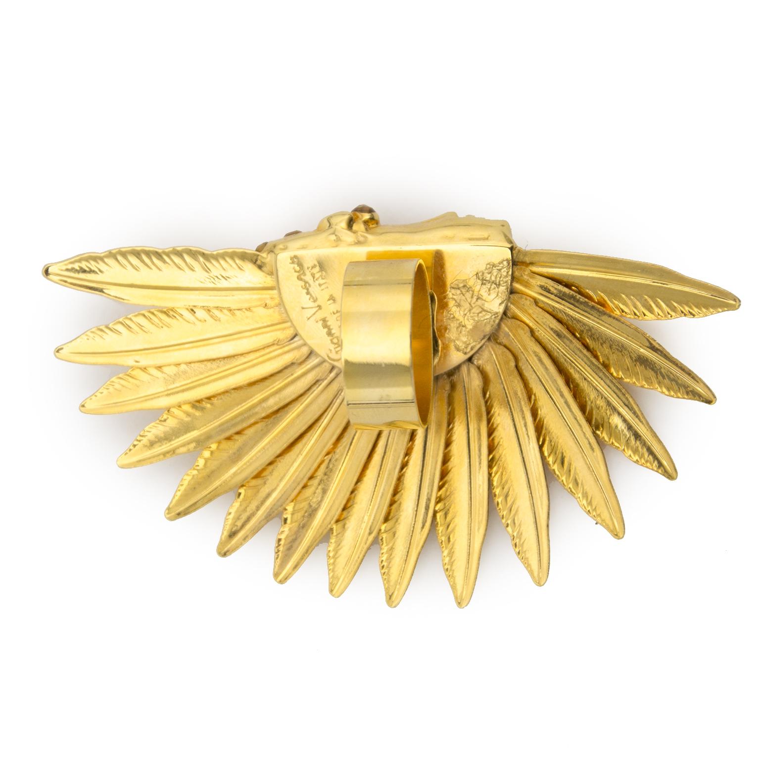 koop veilig online aan de beste prijs Gianni Versace Inian Head Ring online webshop
