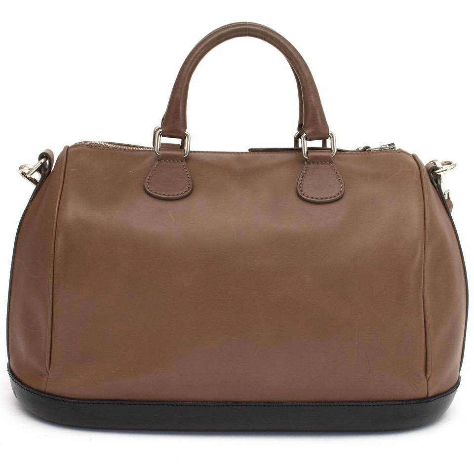 b03f12d3c shop your real real designer vintage luxury bags Walter Steiger Top Handle  Mocca/Black koop veilig online aan de beste prijs Walter Steiger Top Handle  ...
