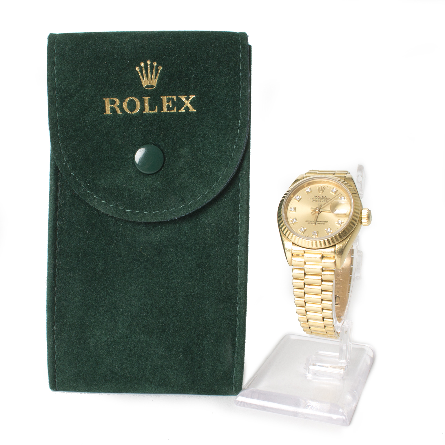acheter en ligne pour le meilleur prix montre Rolex Women's Yellow Gold Presidential Diamond Watch