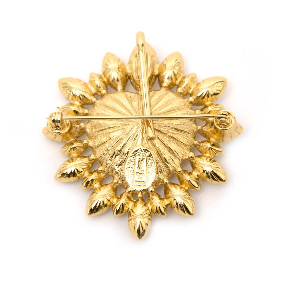Acheter secure en ligne votre broche d'or Yves Saint Laurent Chrystal Brooch