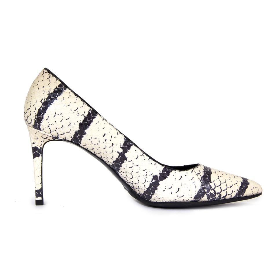 shop safe online Saint Laurent Black And White Python Heels