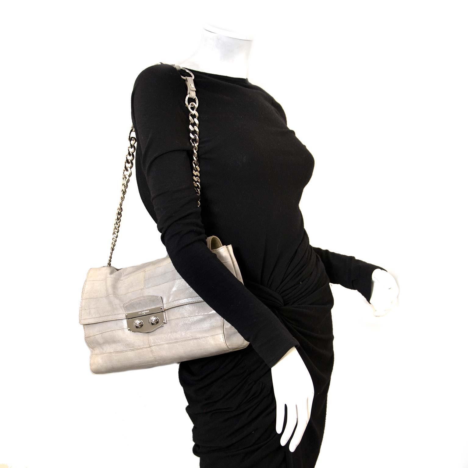 Yves Saint Laurent Le Sixieme Grey Leather Bag kopen en verkopen