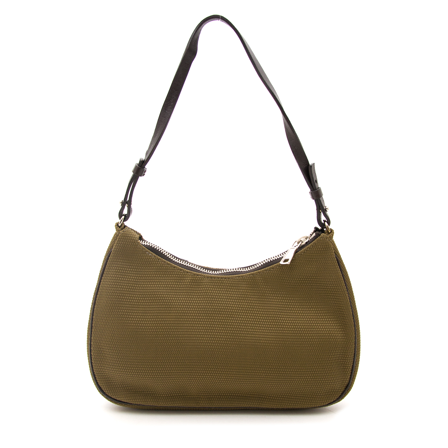 Buy your Yves Saint Laurent Khaki Nylon Bag for the best price available online.