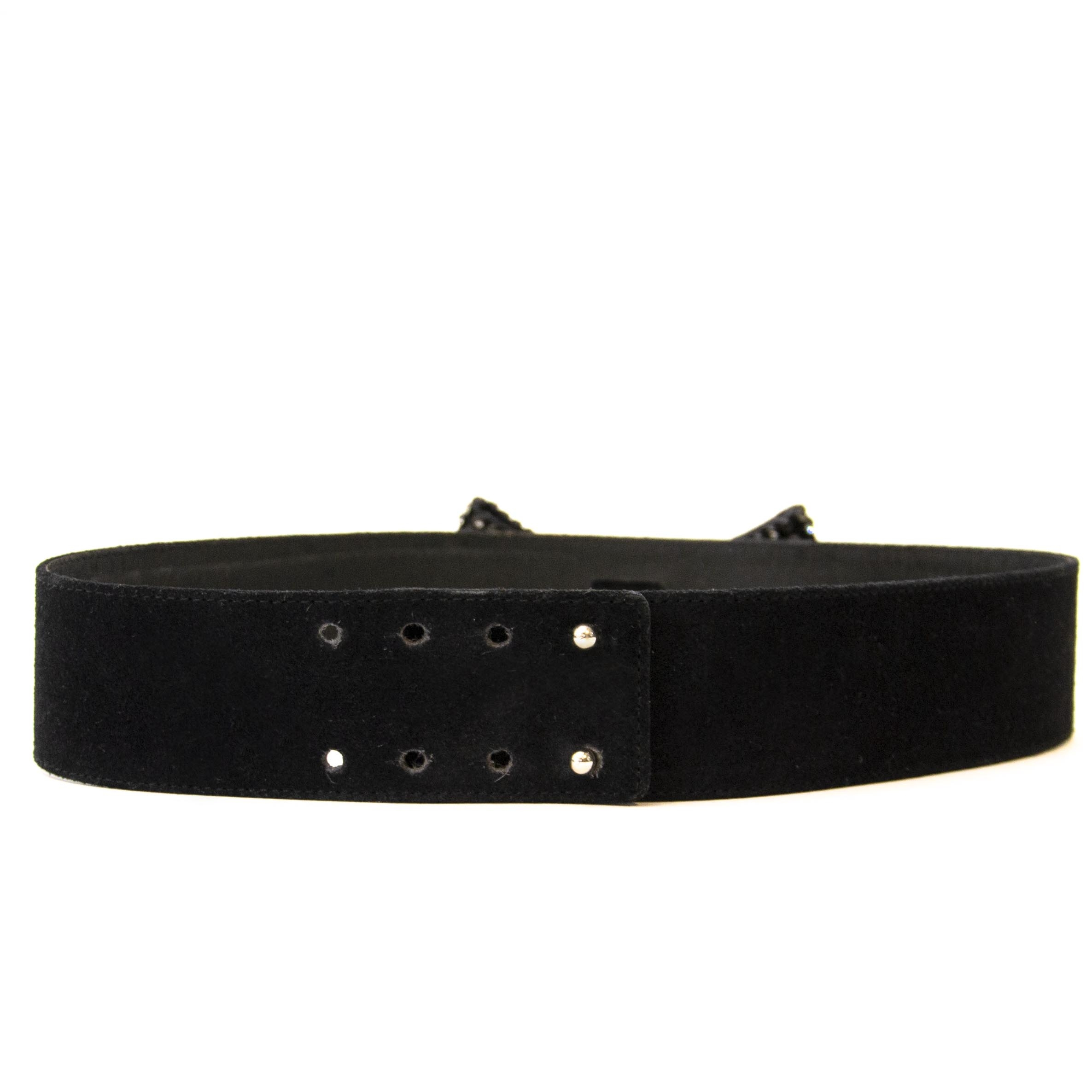 db62e4c4e3c Buy authentic secondhand Delvaux belts Yves Saint Laurent Black Suede Bow  Belt - Size 70. Buy authentic secondhand Delvaux belts