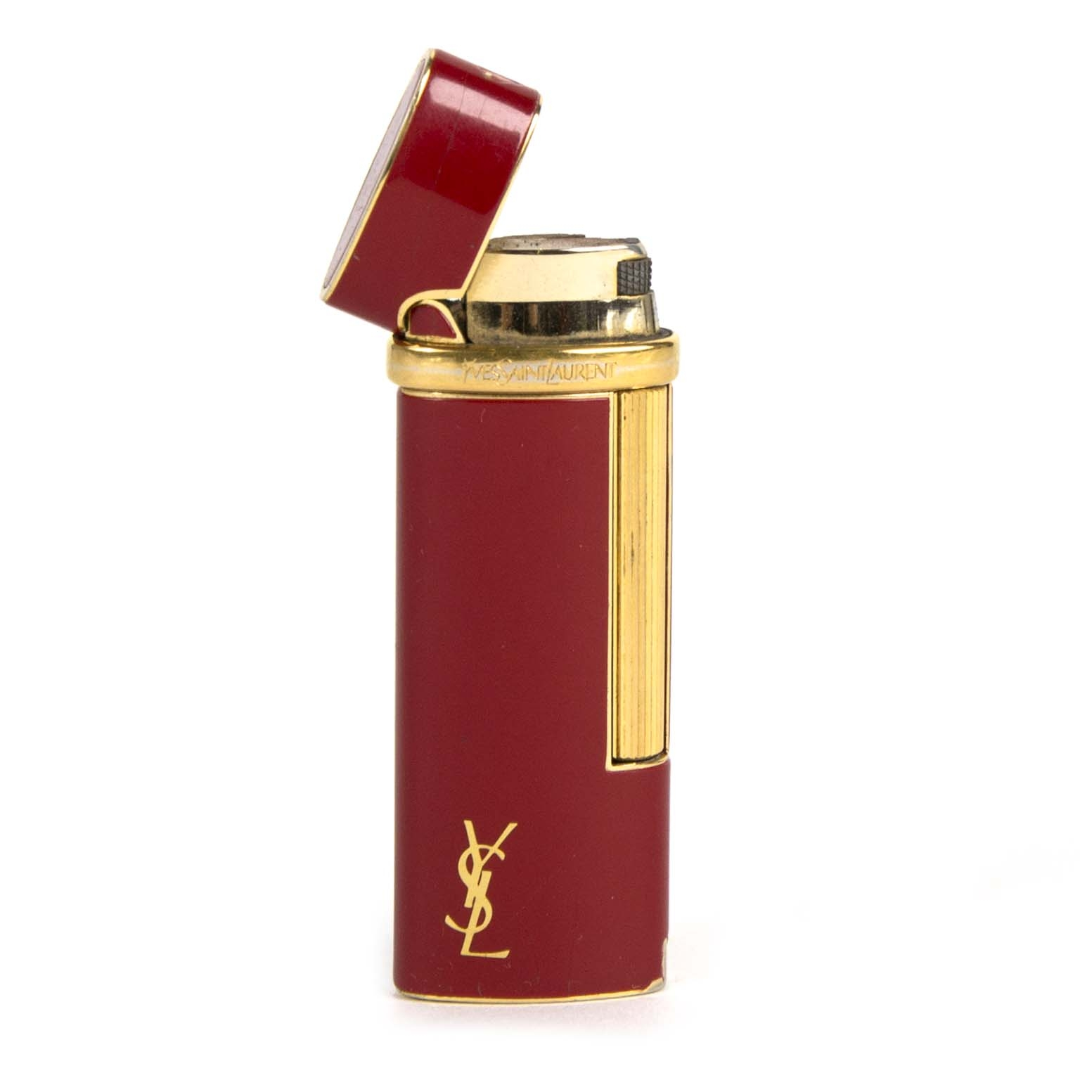 yves saint laurent red lighter now for sale at labellov vintage fashion webshop belgium
