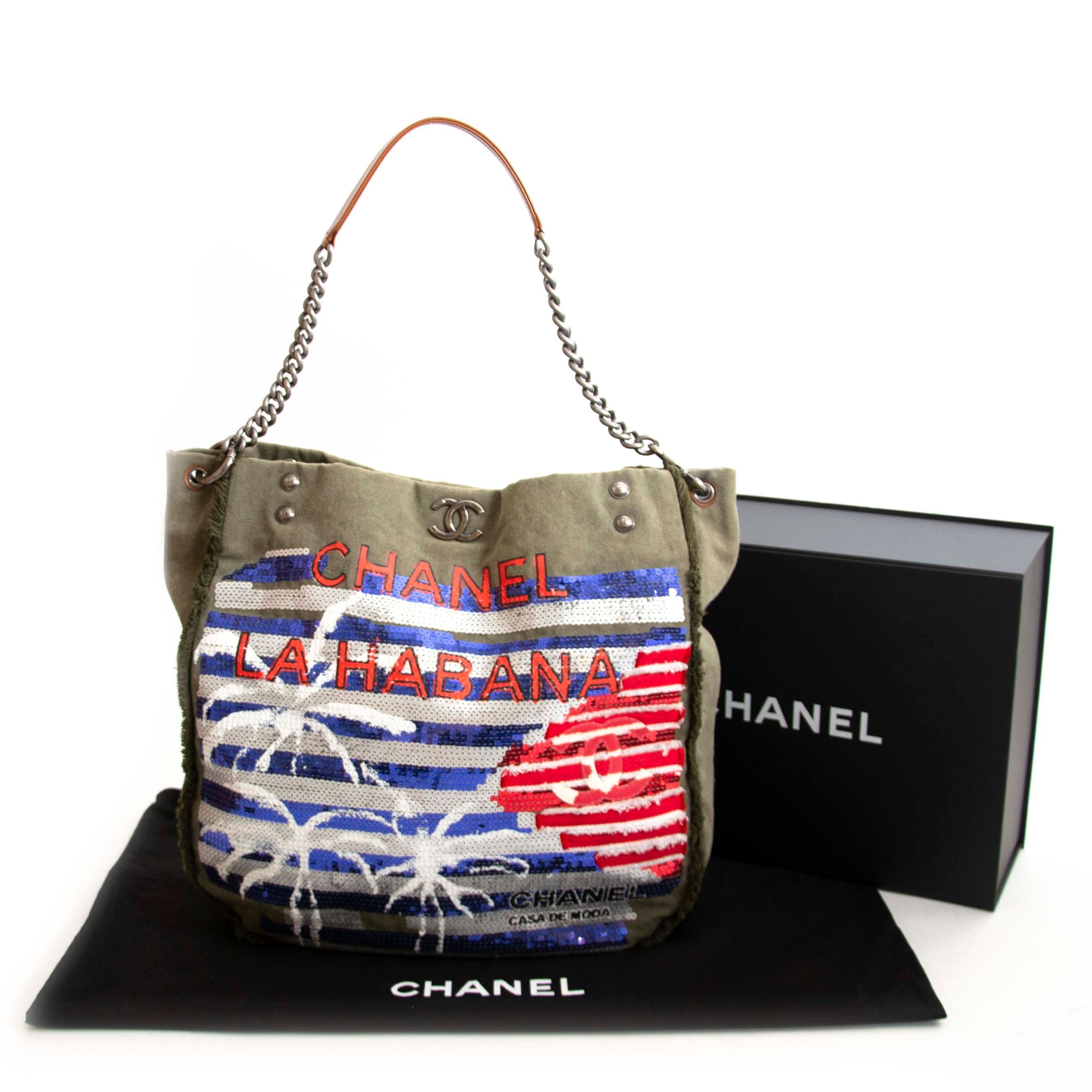 Chanel La HABANA Green Multicolor Hobo Bag